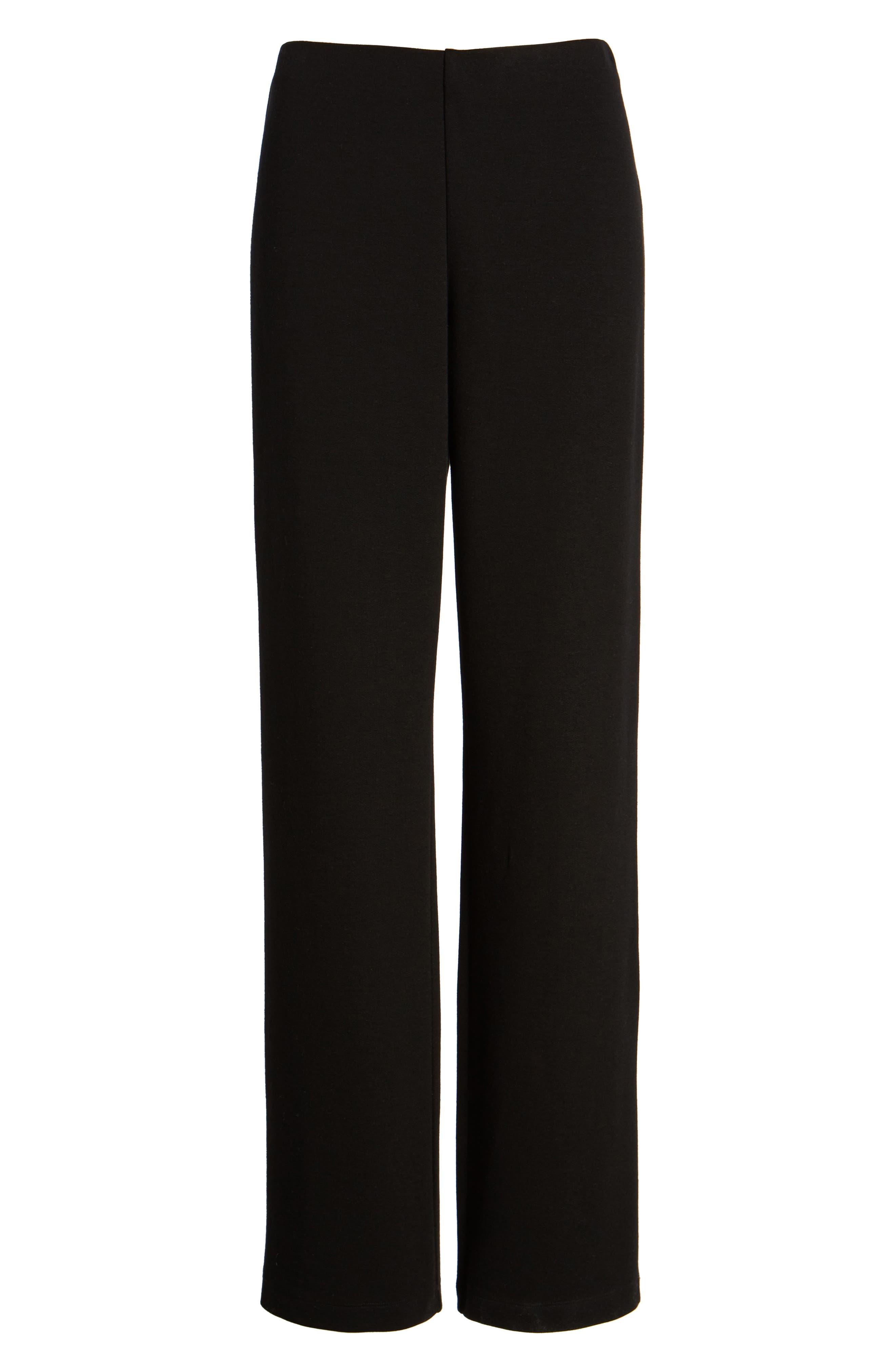 Straight Leg Pants,                             Alternate thumbnail 7, color,                             Black