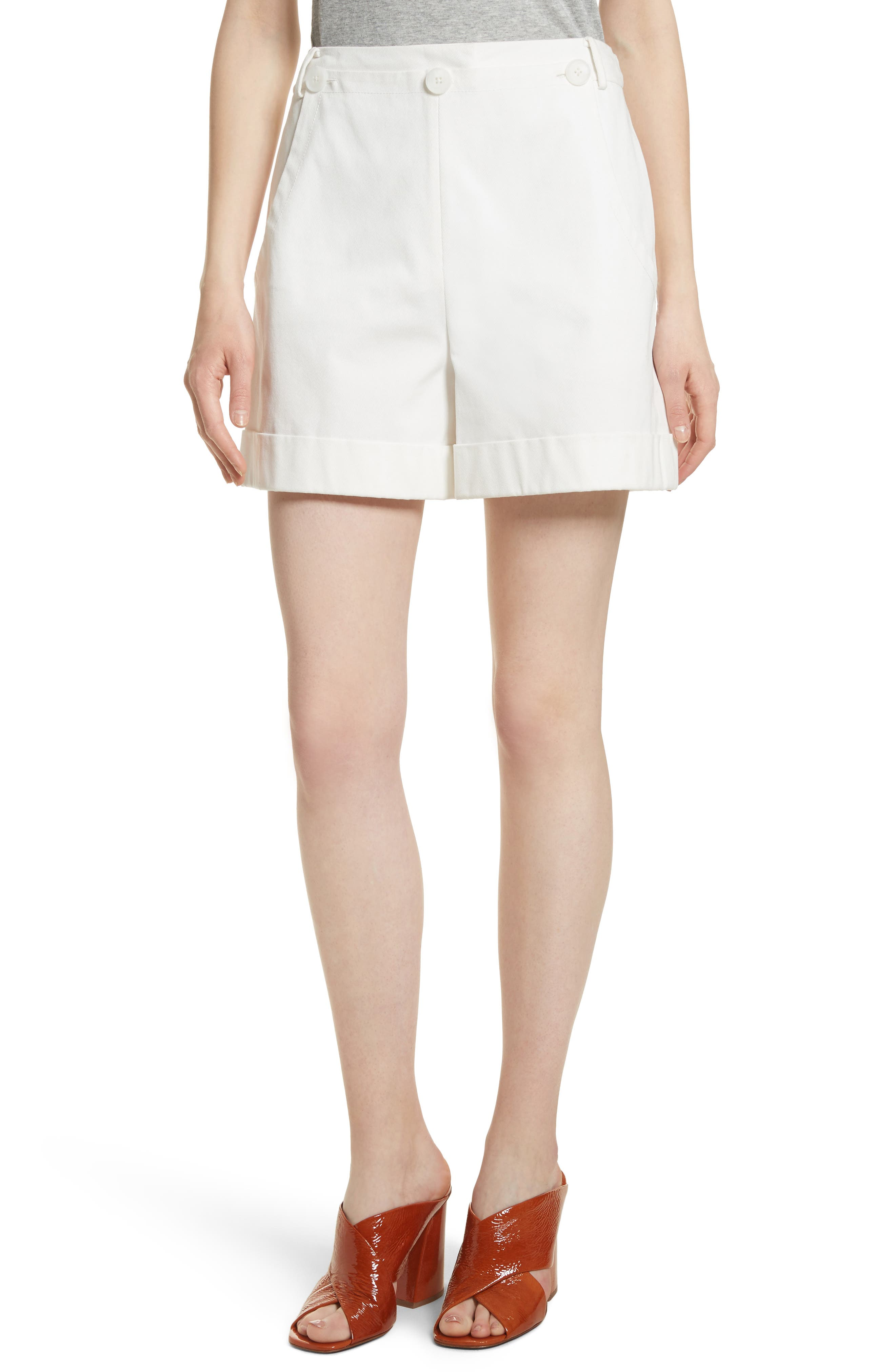 Stretch Cotton Sailor Shorts,                         Main,                         color, Star White