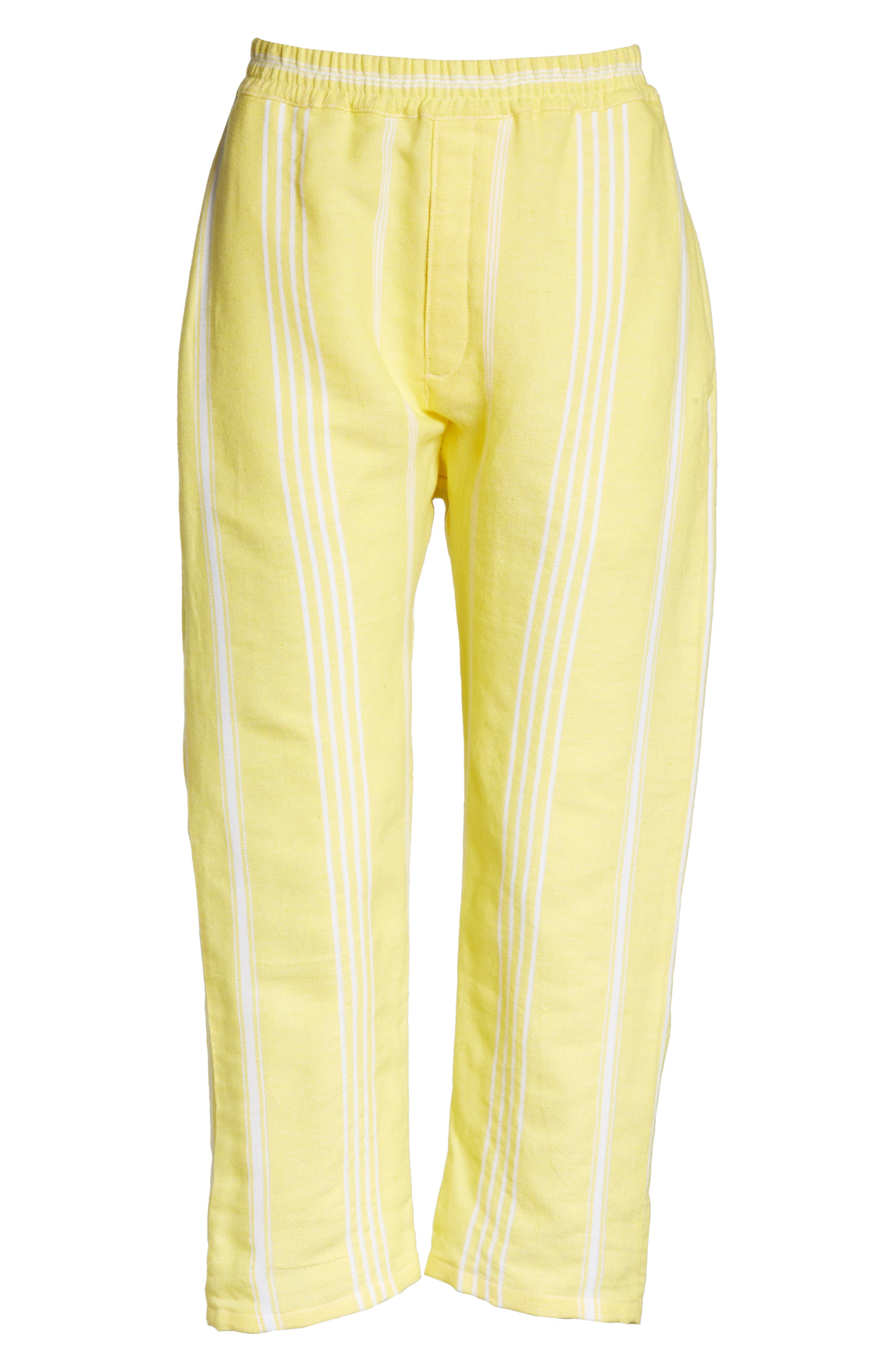 Stripe Cotton Beach Pants,                             Alternate thumbnail 6, color,                             Yellow