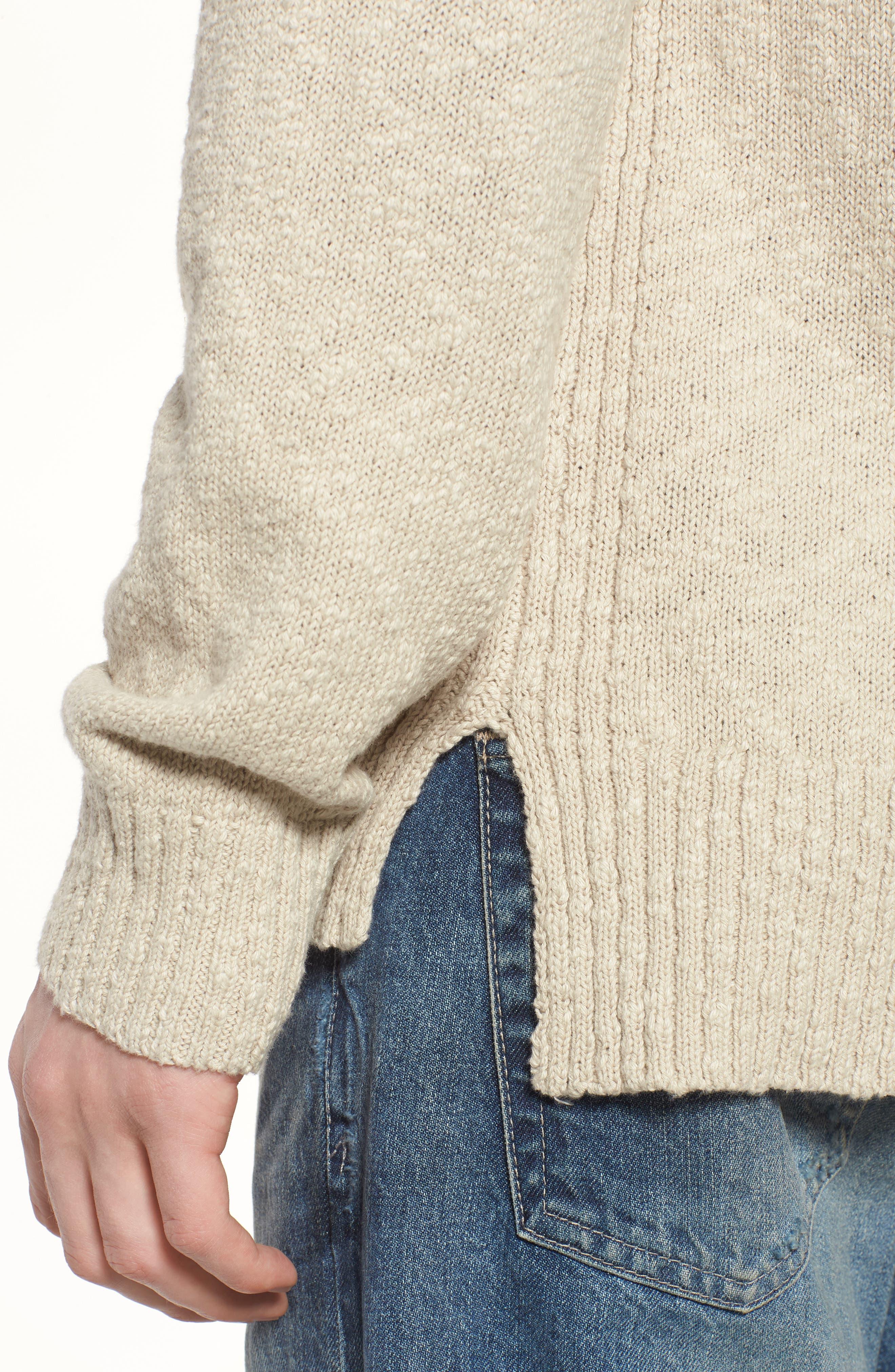 Deklyn Slim Fit Crew Sweater,                             Alternate thumbnail 4, color,                             Mineral Veil