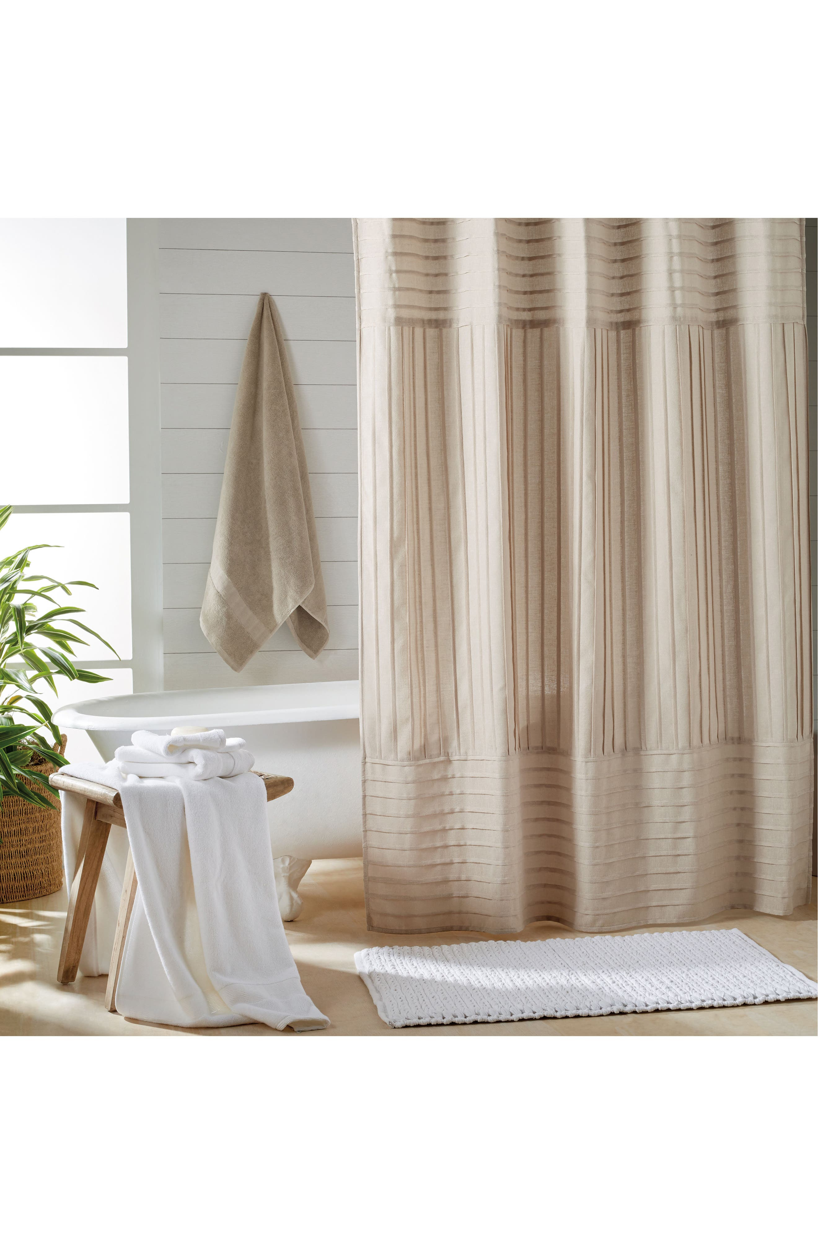 Charming DKNY Pure Pintuck Pleat Shower Curtain