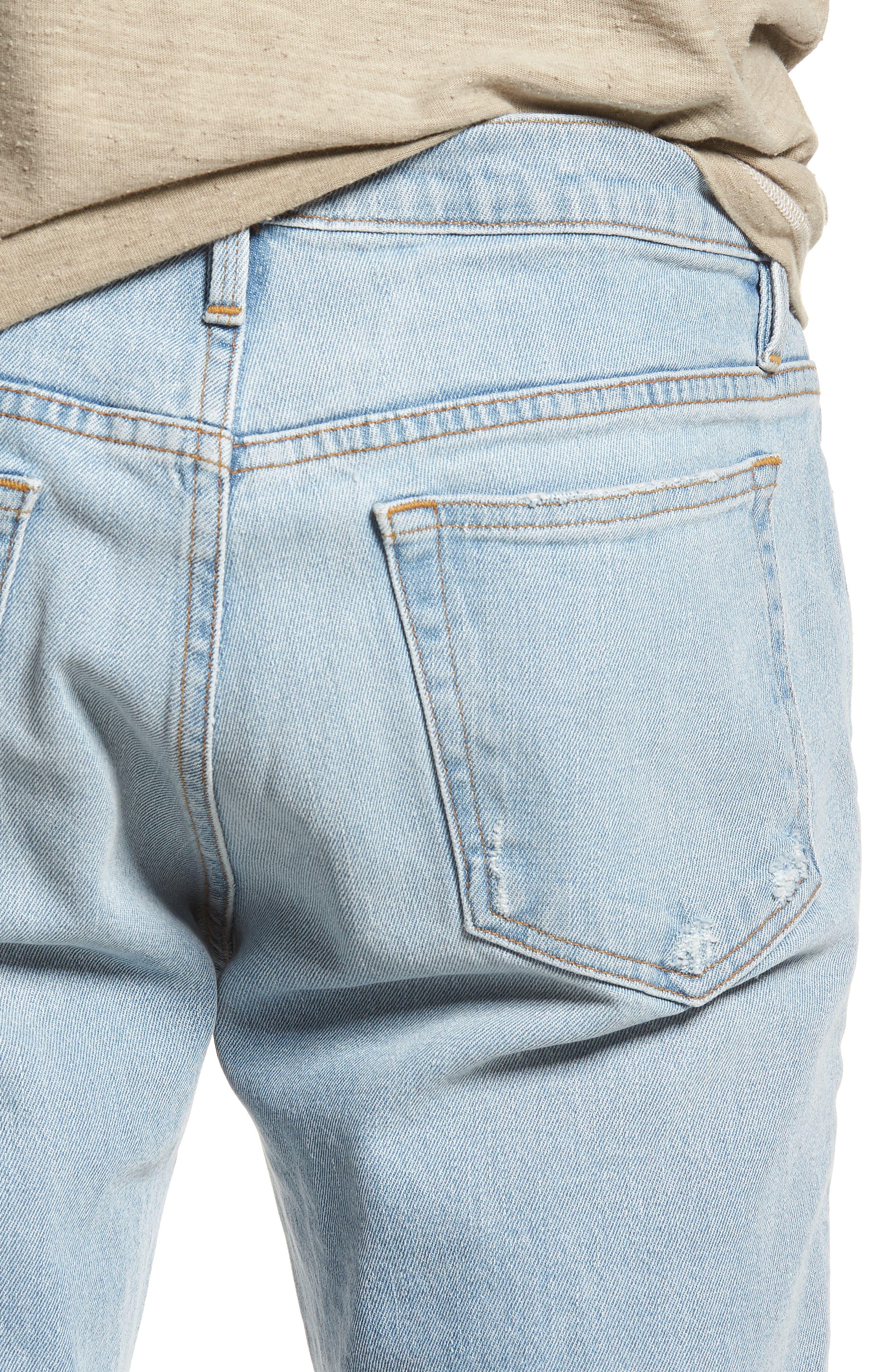 L'Homme Skinny Fit Jeans,                             Alternate thumbnail 4, color,                             Arnett