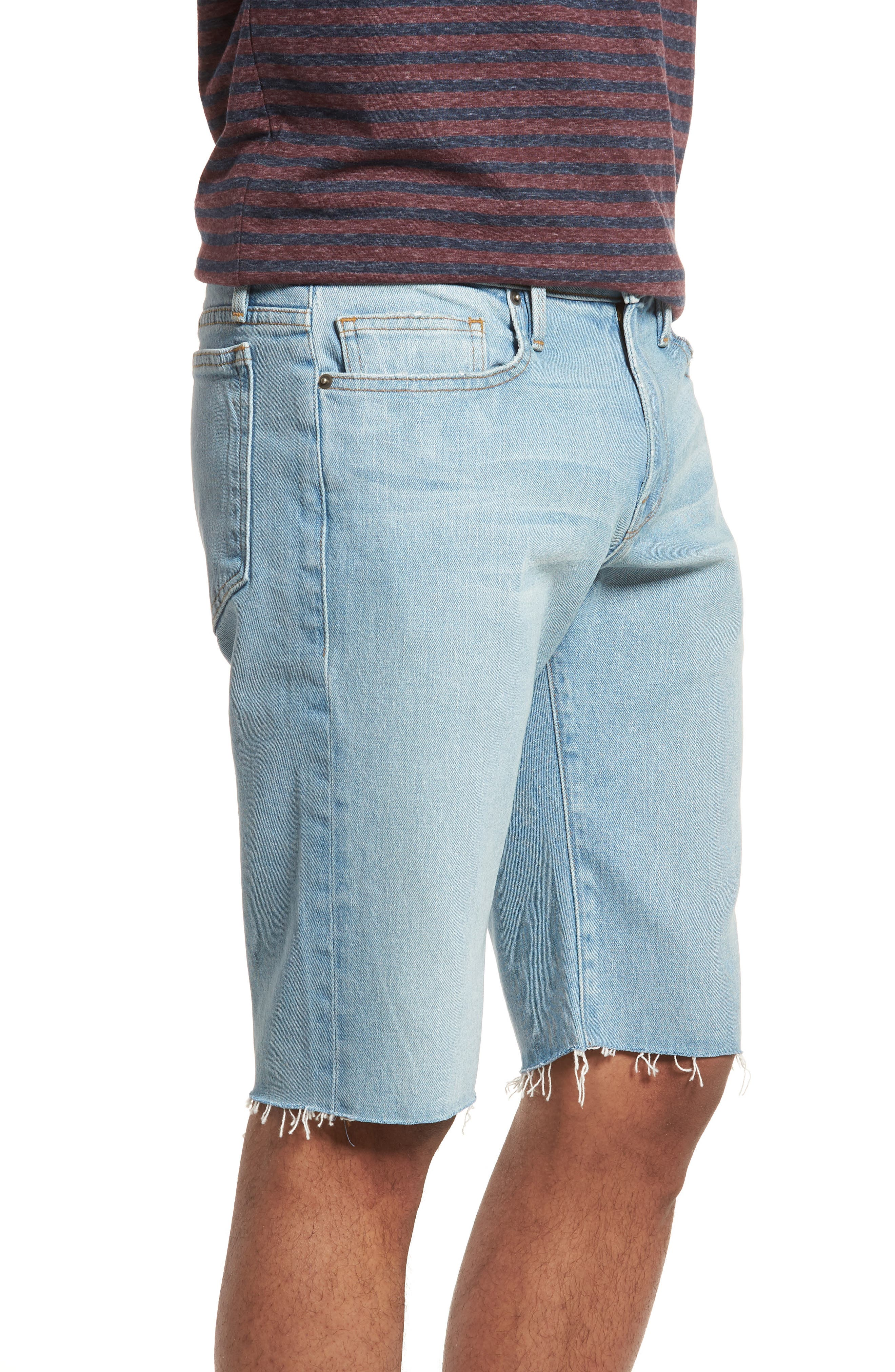L'Homme Cutoff Denim Shorts,                             Alternate thumbnail 4, color,                             Crosby