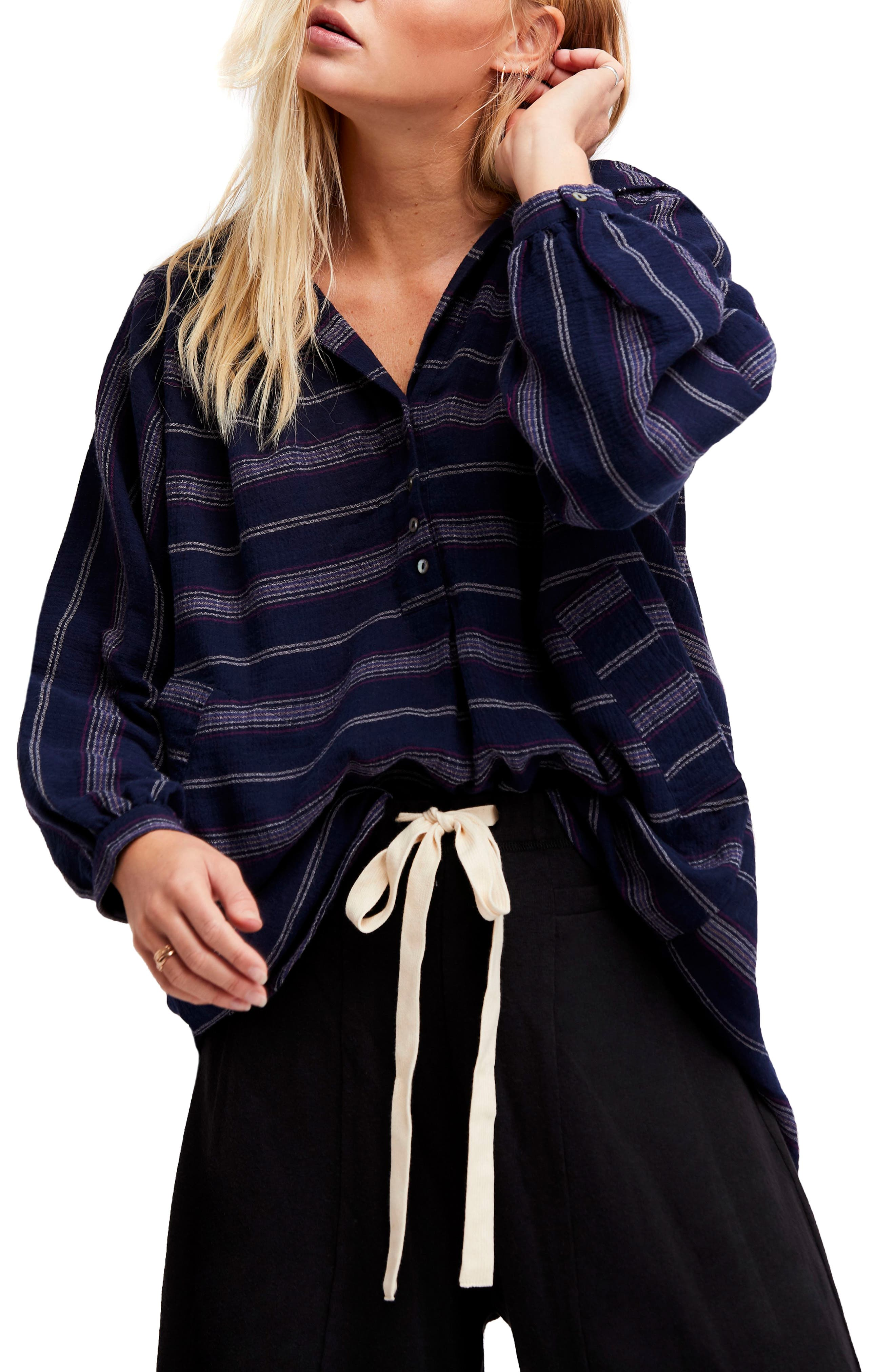 Free People Rolling Clouds Hooded Top