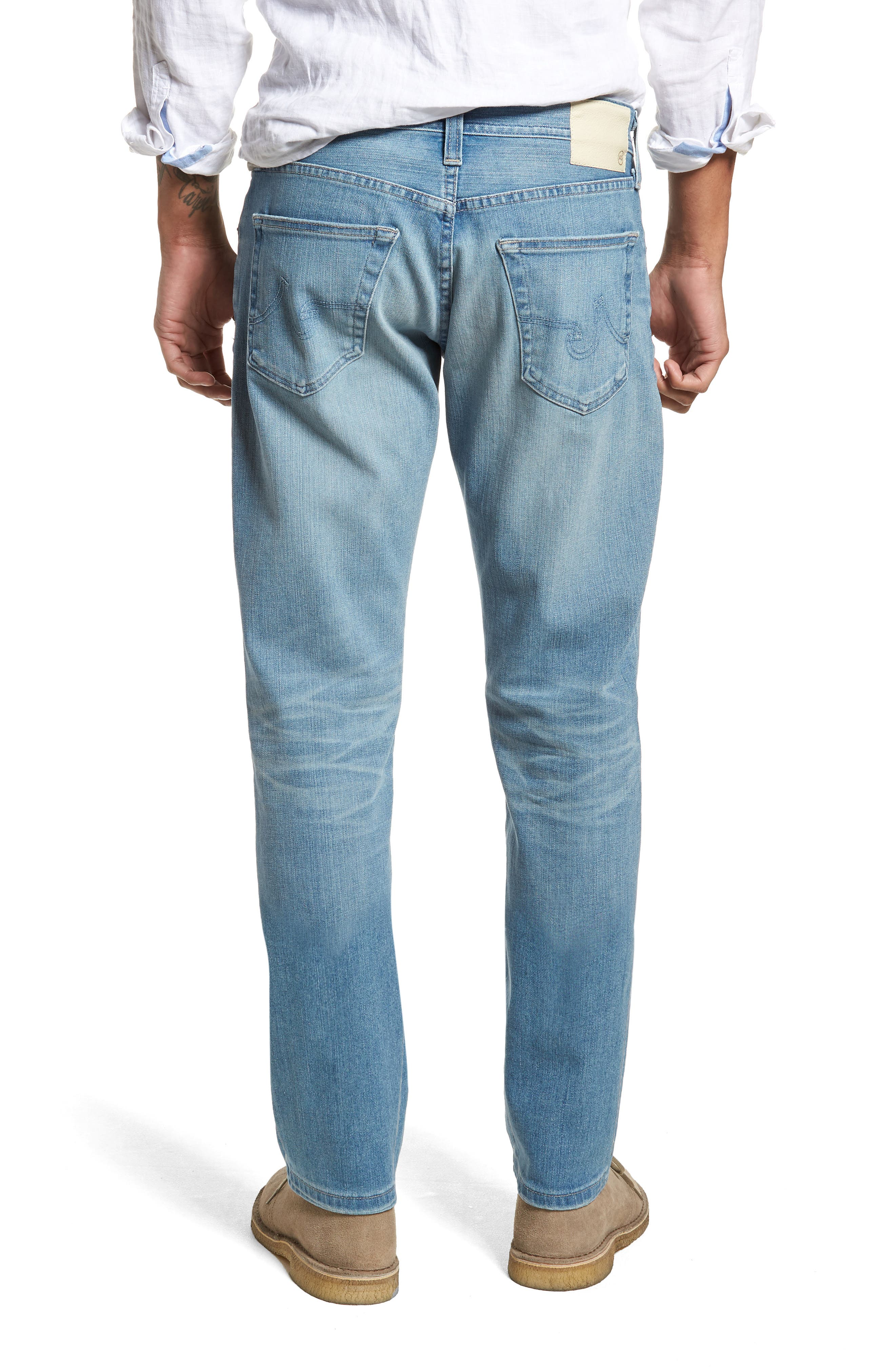 Graduate Slim Straight Leg Jeans,                             Alternate thumbnail 2, color,                             19 Years Channel