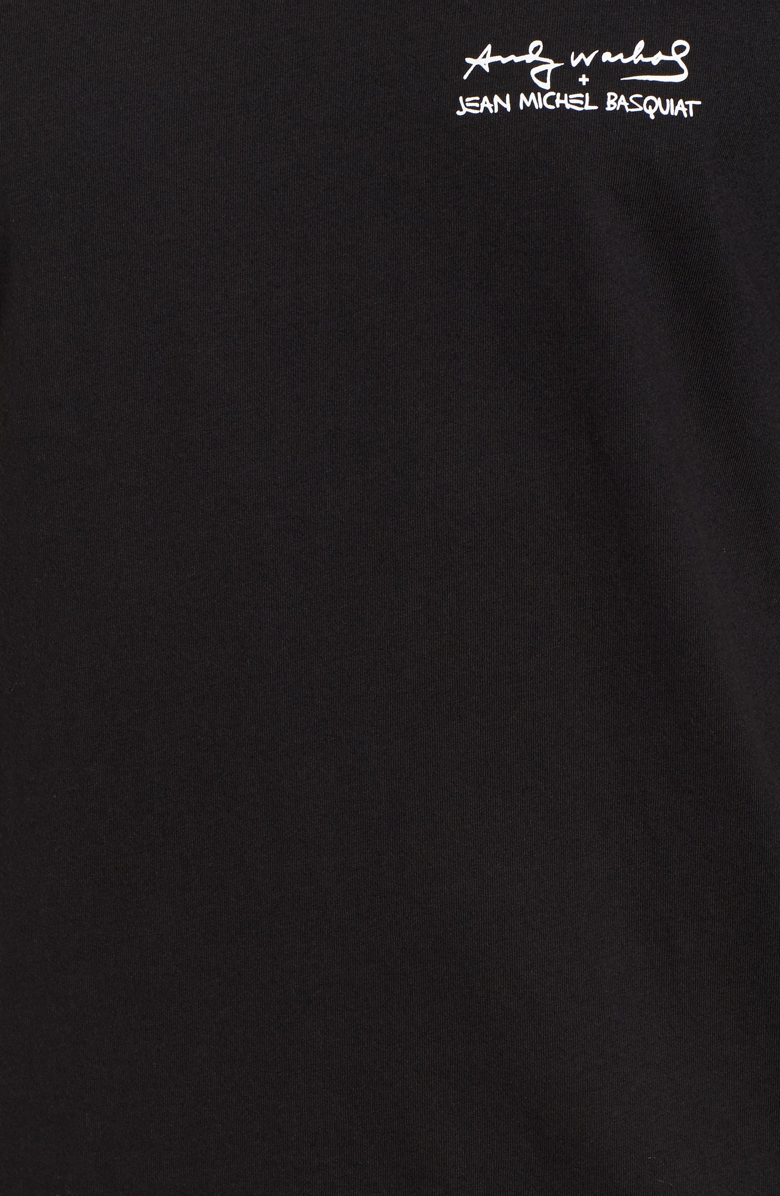 Fright Wig T-Shirt,                             Alternate thumbnail 5, color,                             Black