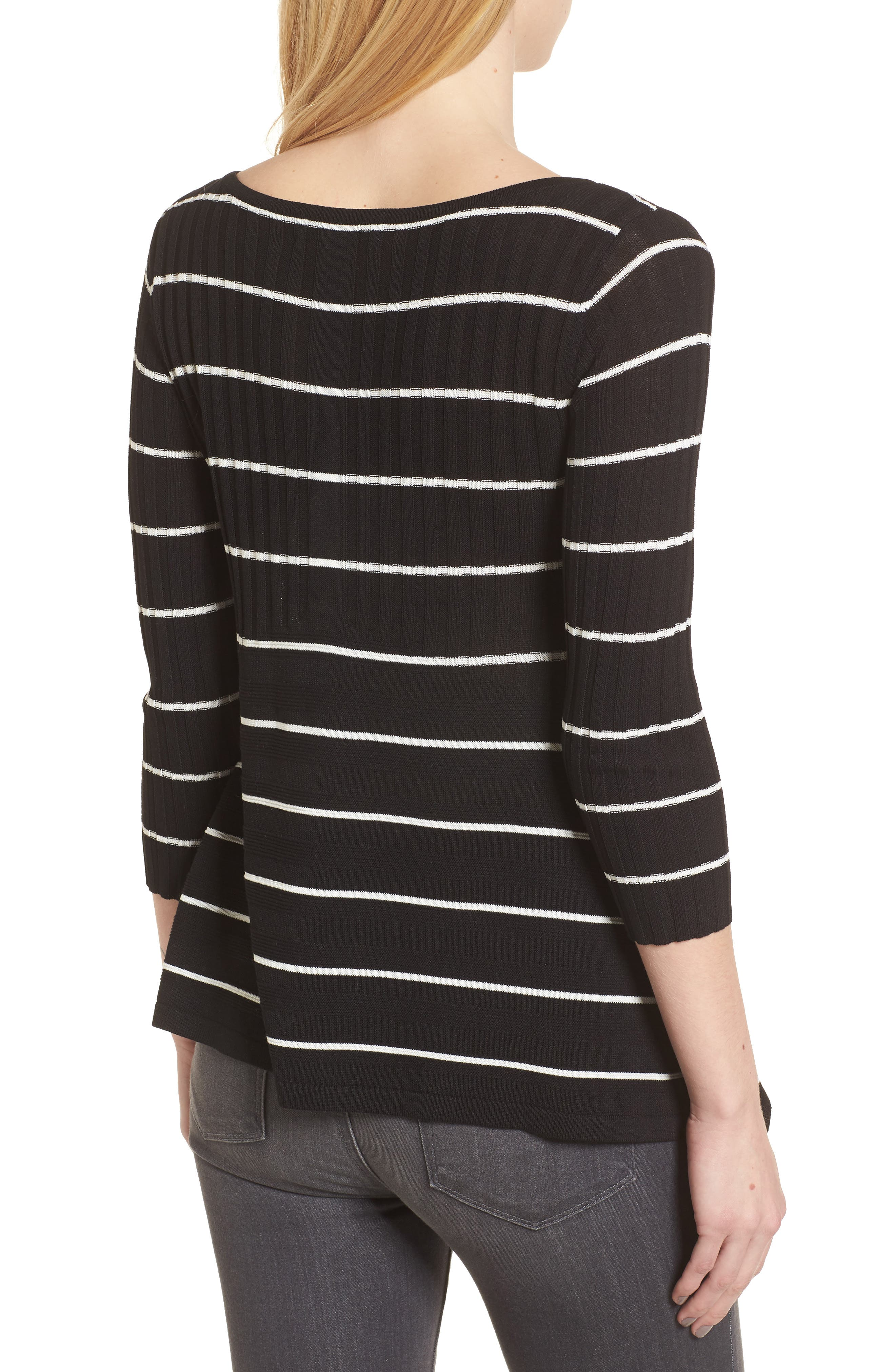 Sumo Stripe Sweater,                             Alternate thumbnail 2, color,                             Black