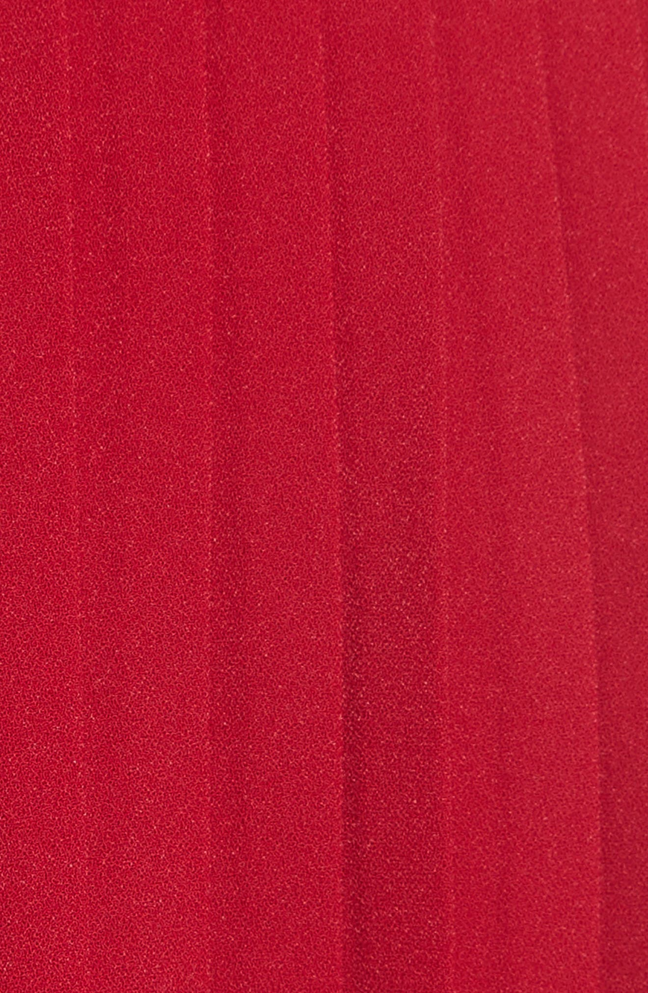 Paneled Lace Dress,                             Alternate thumbnail 5, color,                             Rasberry Red