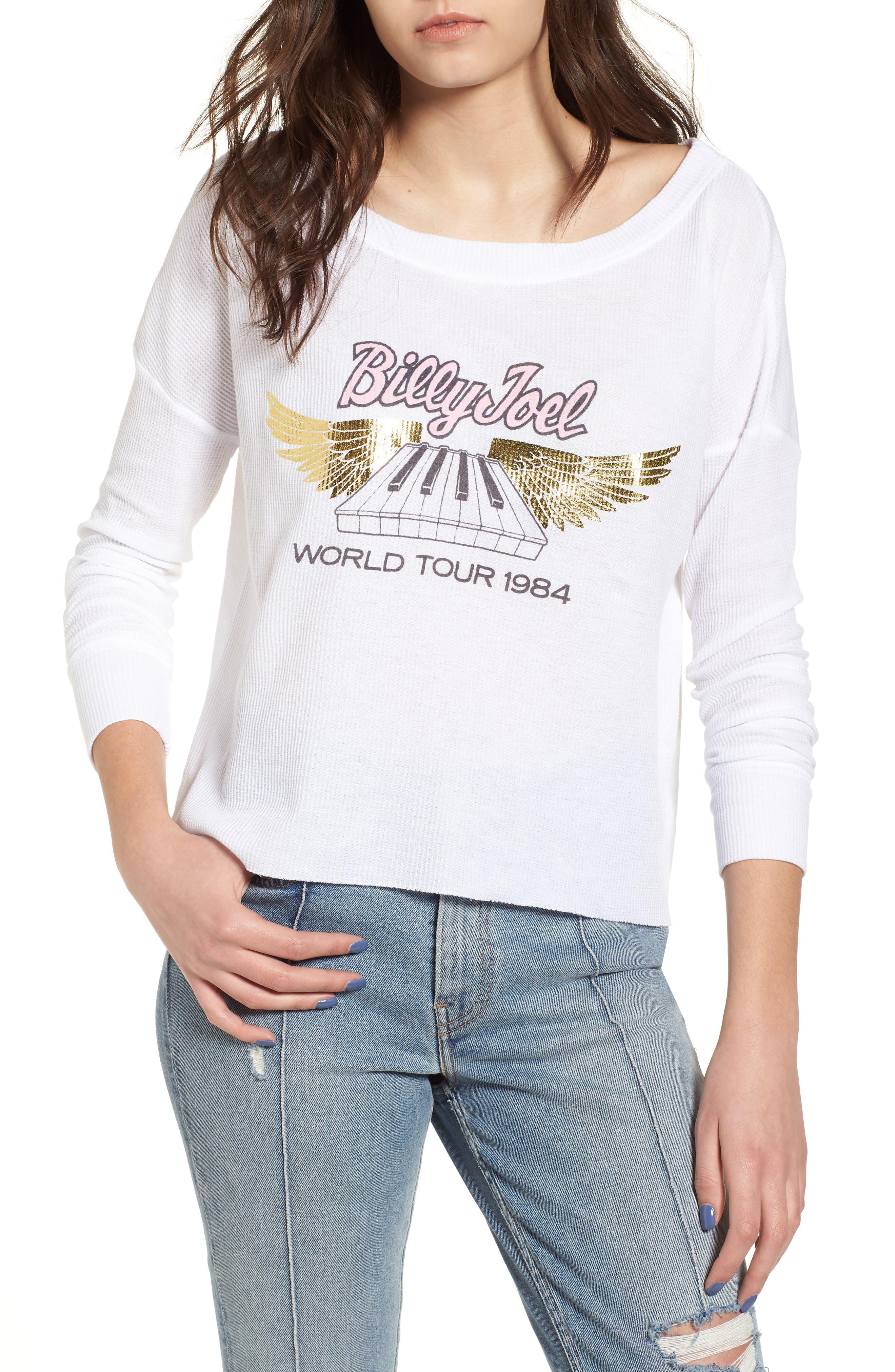 Billy Joel Thermal Top,                         Main,                         color, Vintage White