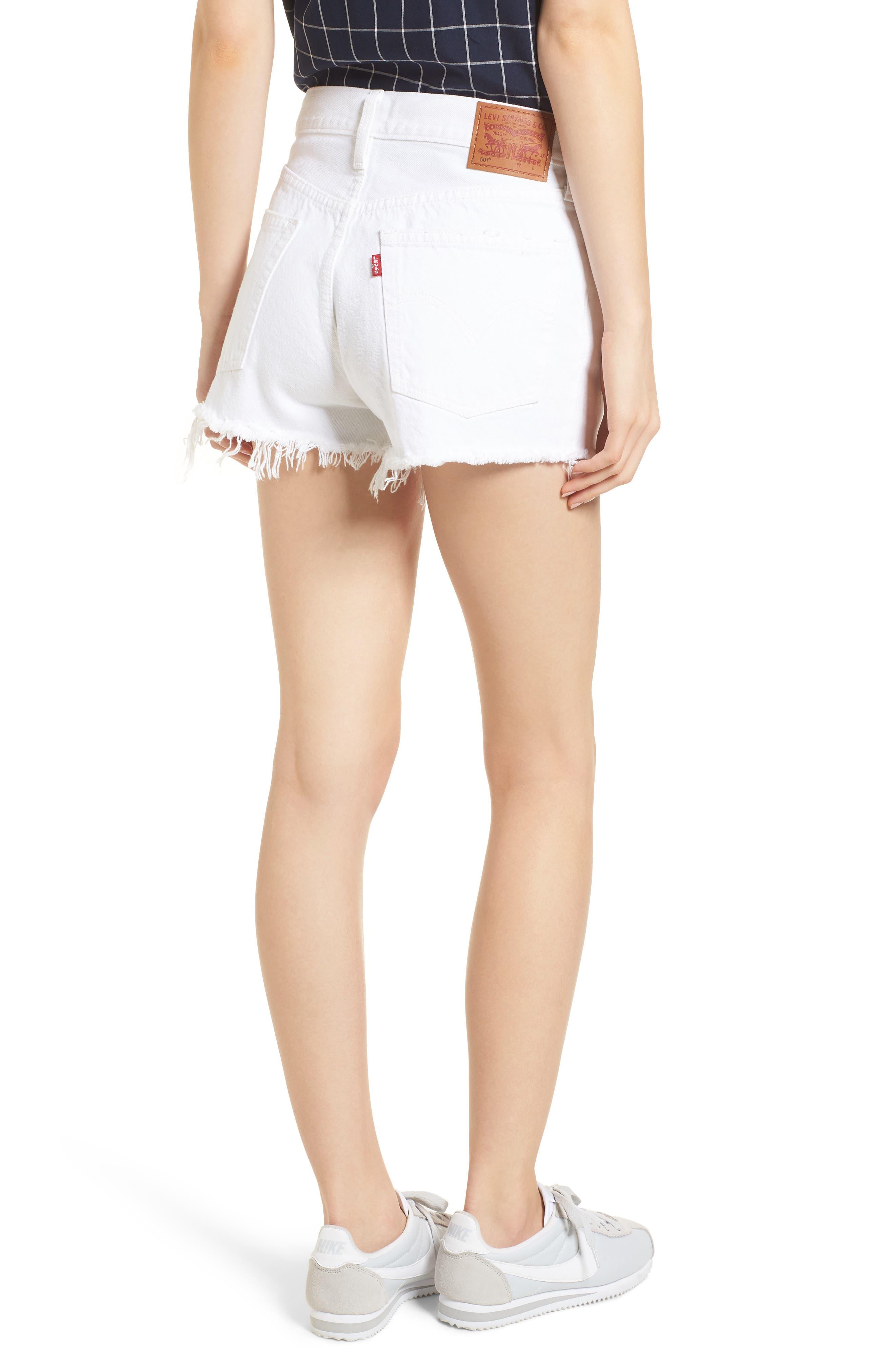 Alternate Image 2  - Levi's® 501® Cutoff Denim Shorts (Super Sonic)