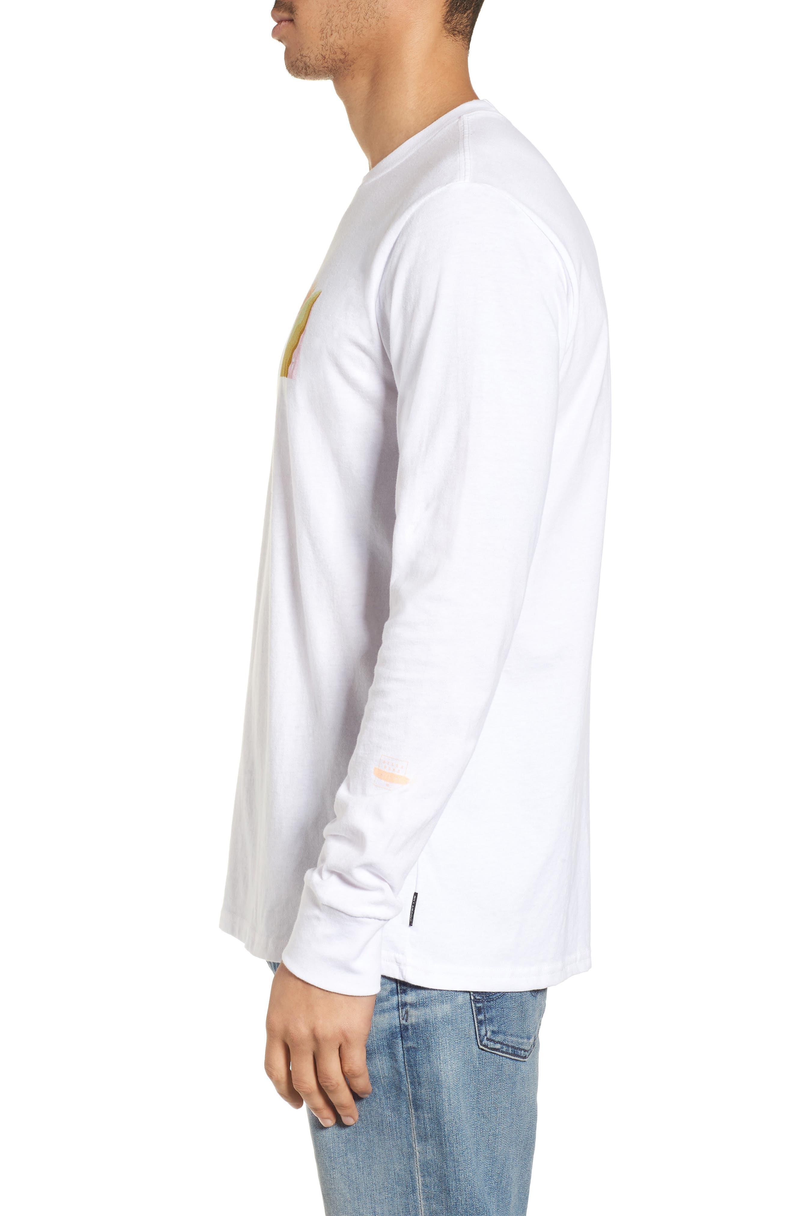 Wandering Eye Embroidered Long Sleeve T-Shirt,                             Alternate thumbnail 4, color,                             White