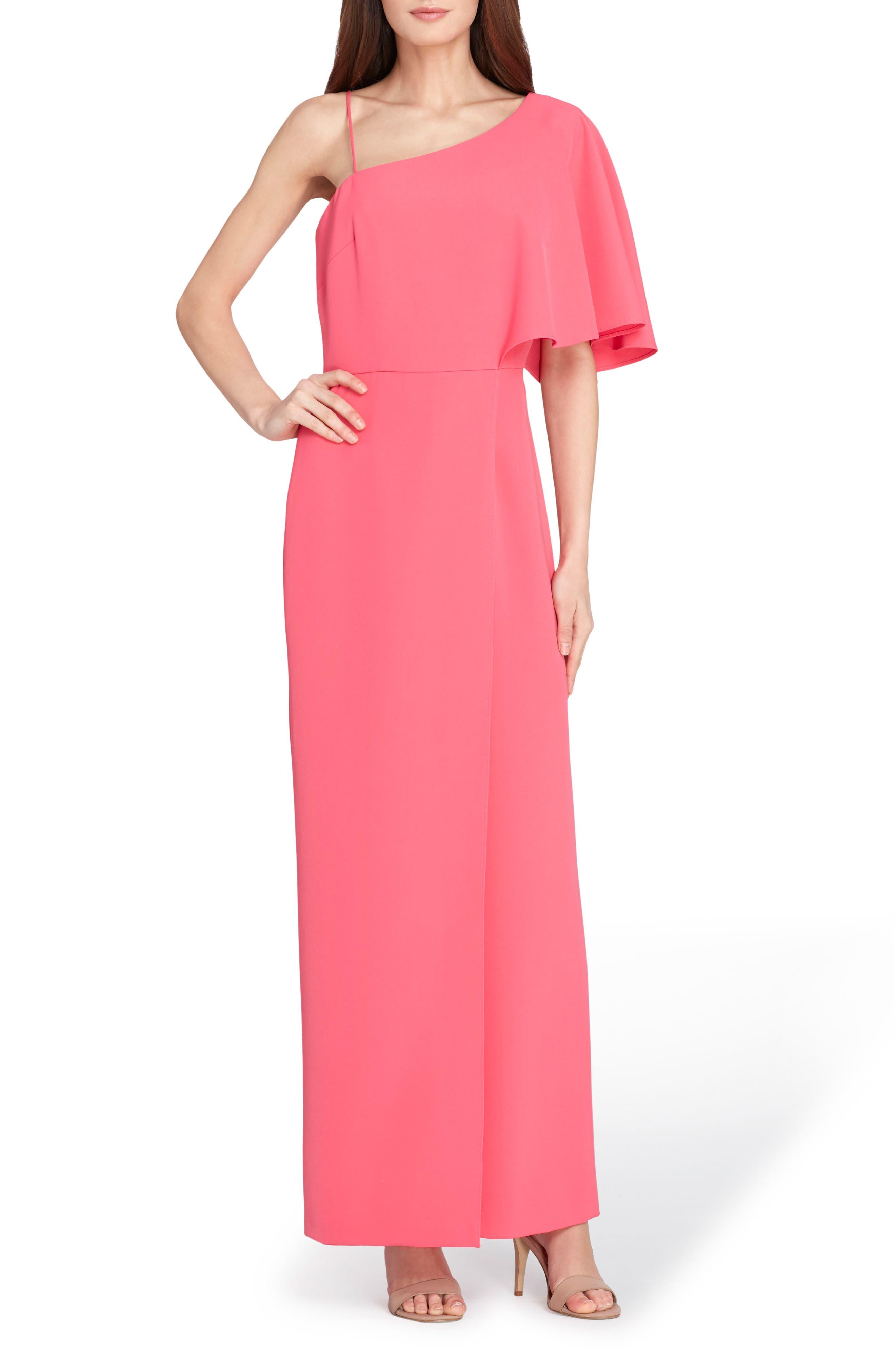 Asymmetrical Bell Bottom Jumpsuit,                         Main,                         color, Paradise Pink