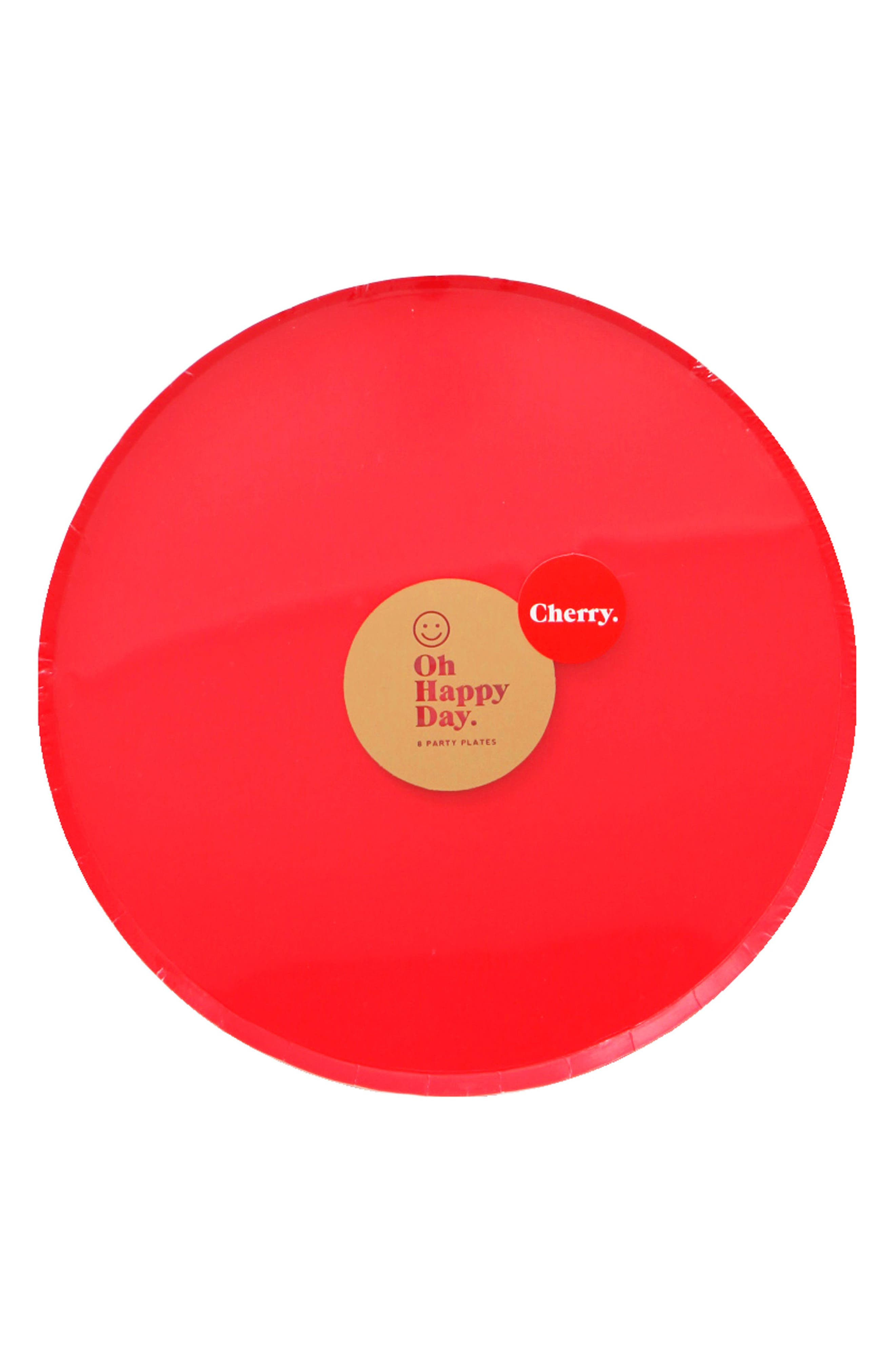 Oh Happy Day Set of 8 Cherry 9-Inch Paper Party Plates