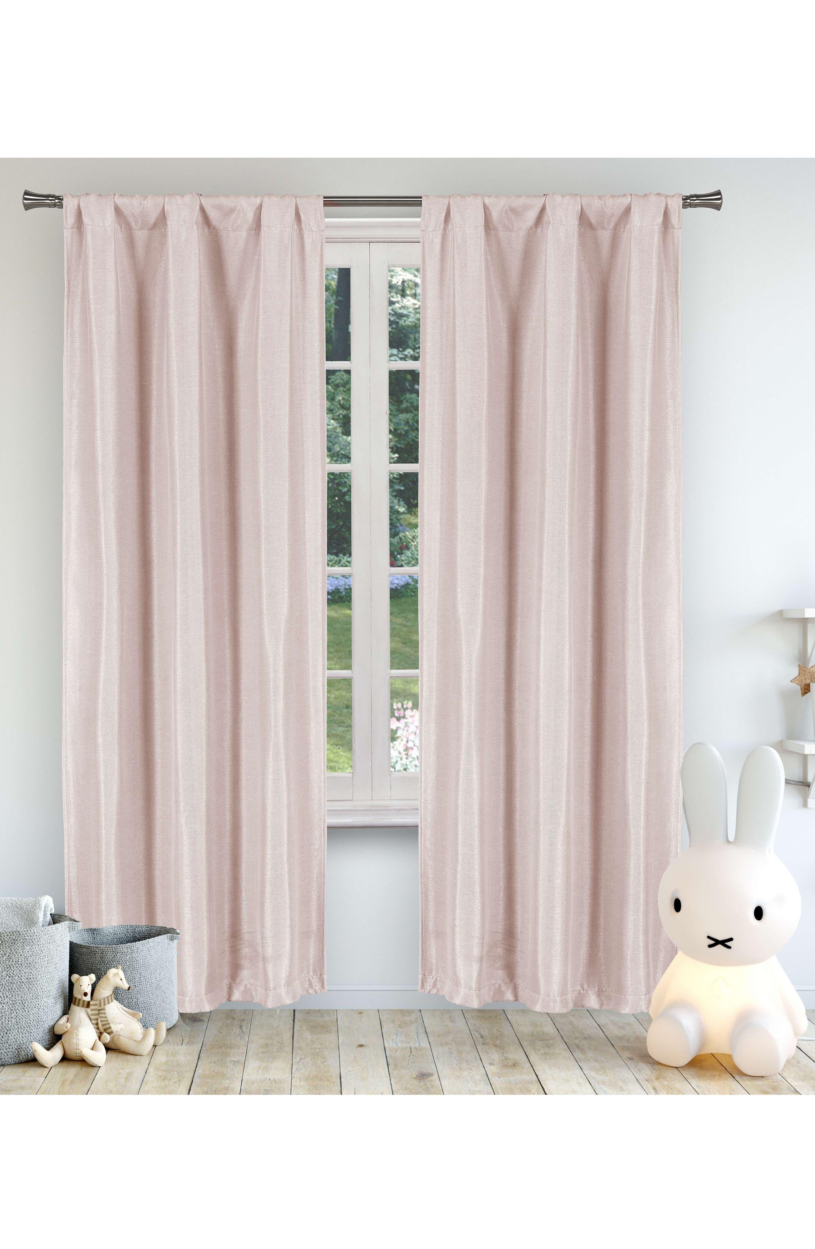 Miranda Blackout Window Panels,                             Main thumbnail 1, color,                             Pretty Pink