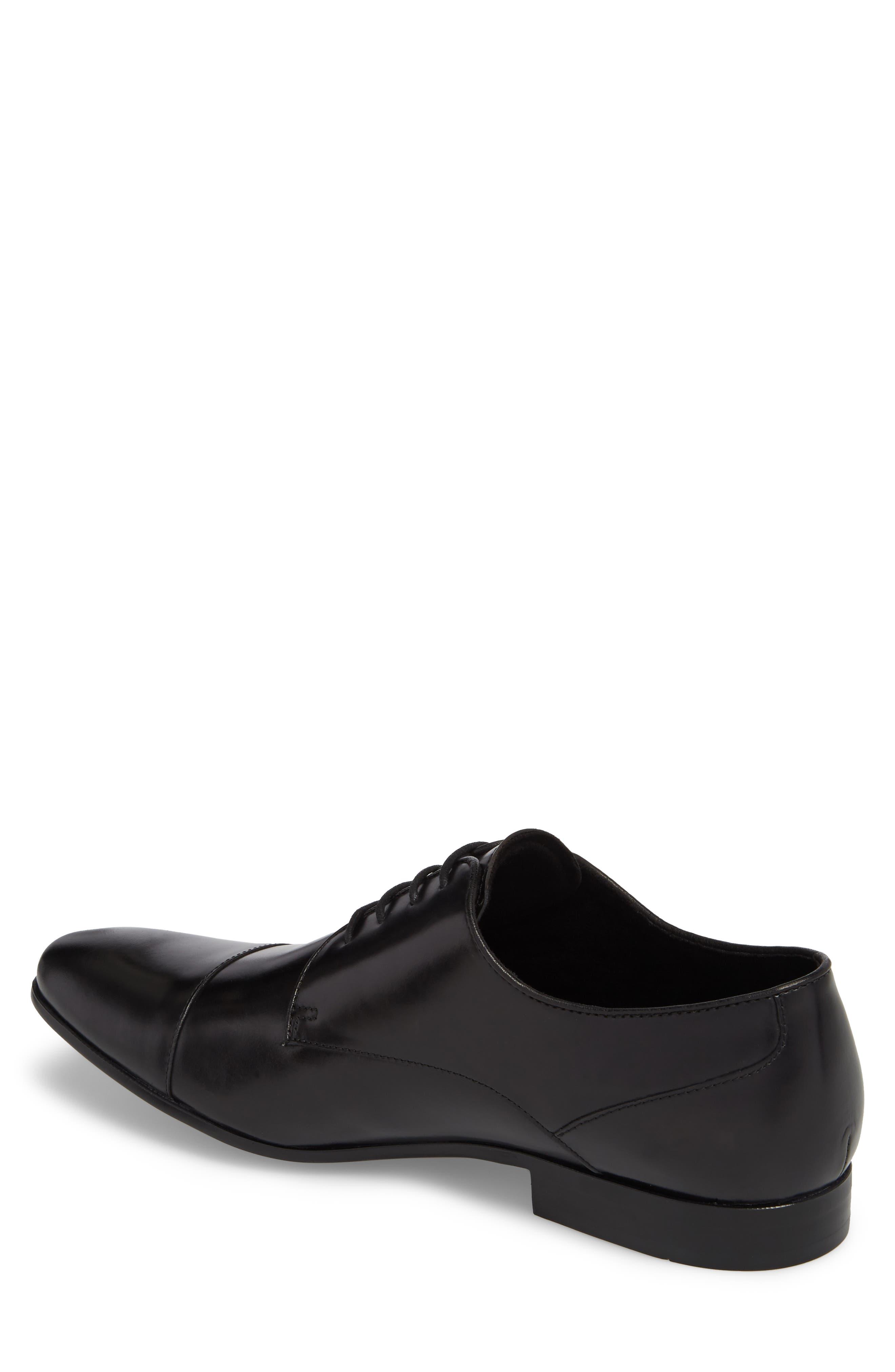 Cap Toe Oxford,                             Alternate thumbnail 2, color,                             Black Leather