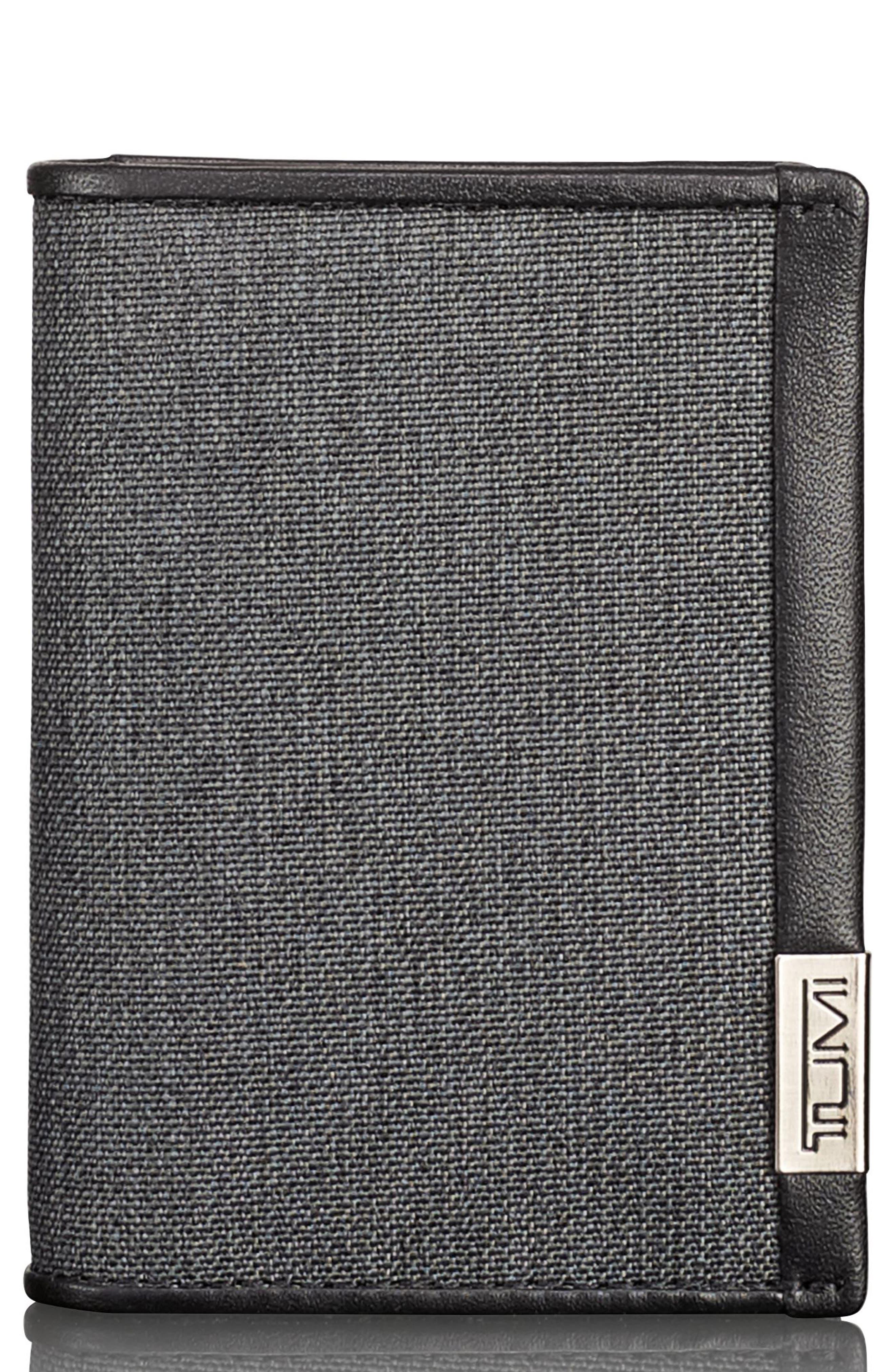 Alpha Card Case,                             Main thumbnail 1, color,                             Anthracite/ Black