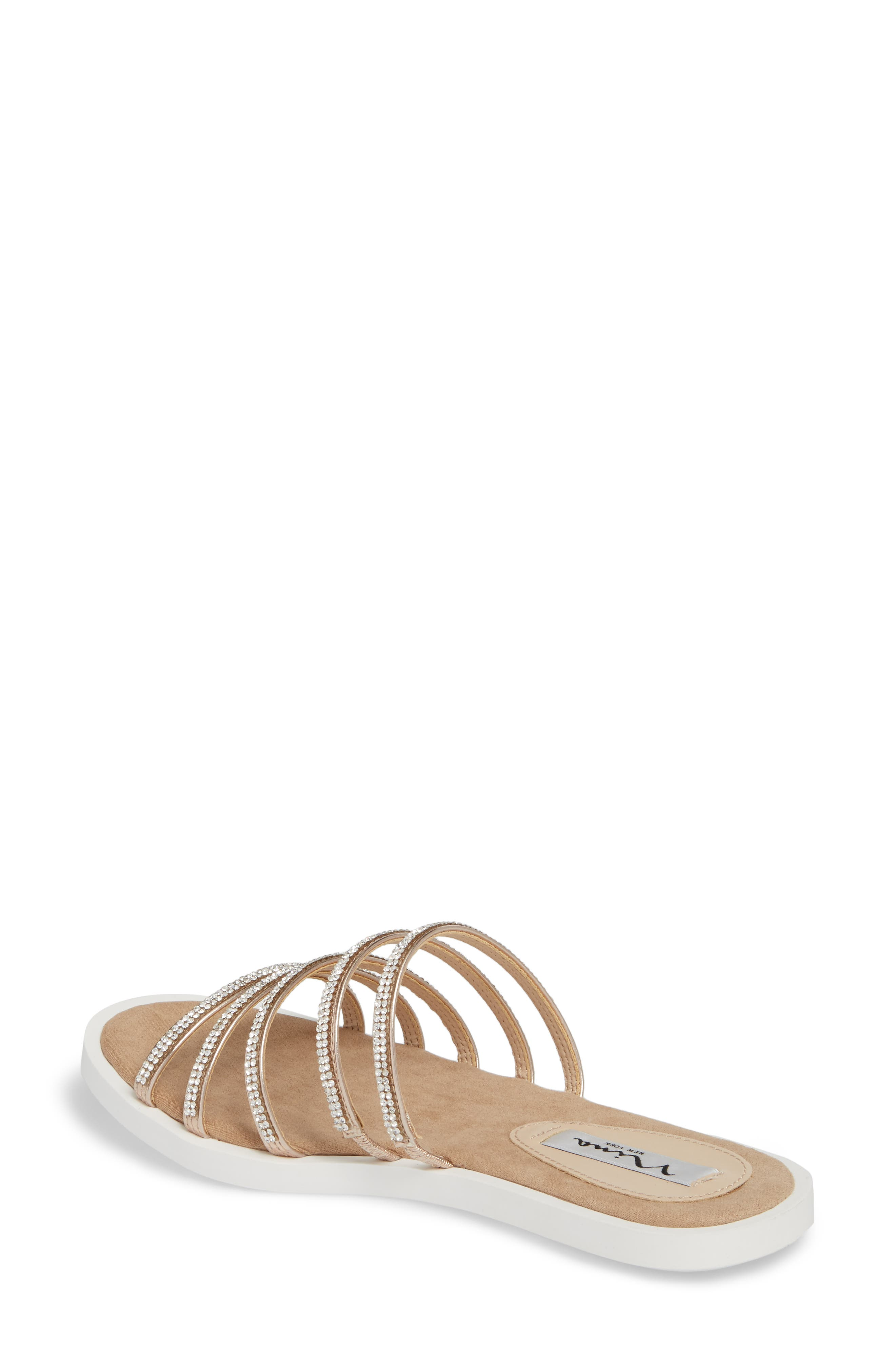 Sabrina Sandal,                             Alternate thumbnail 2, color,                             Rose Gold Fabric