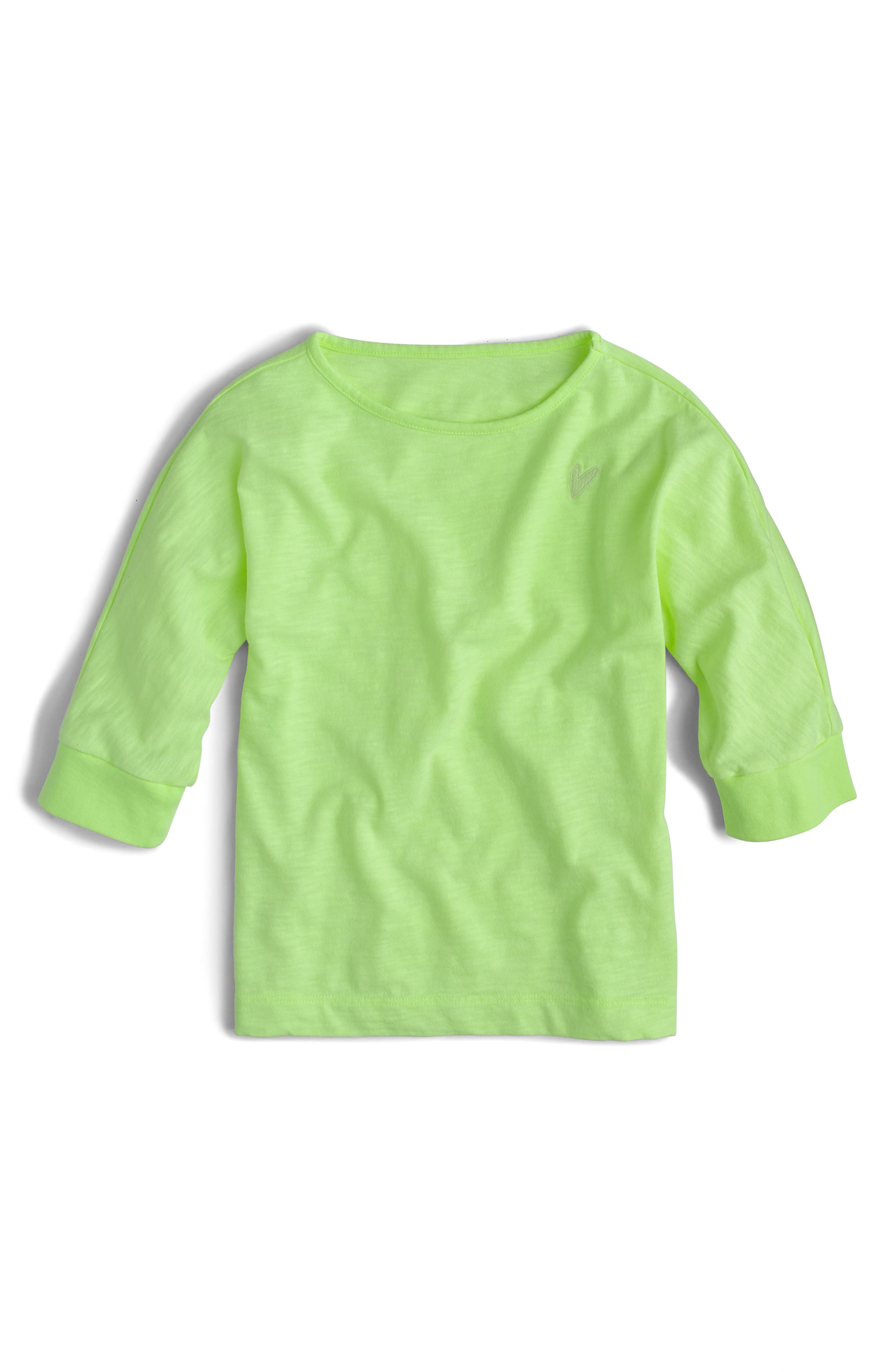 Alternate Image 1 Selected - crewcuts by J.Crew Heart Appliqué Tee (Toddler Girls, Little Girls & Big Girls)