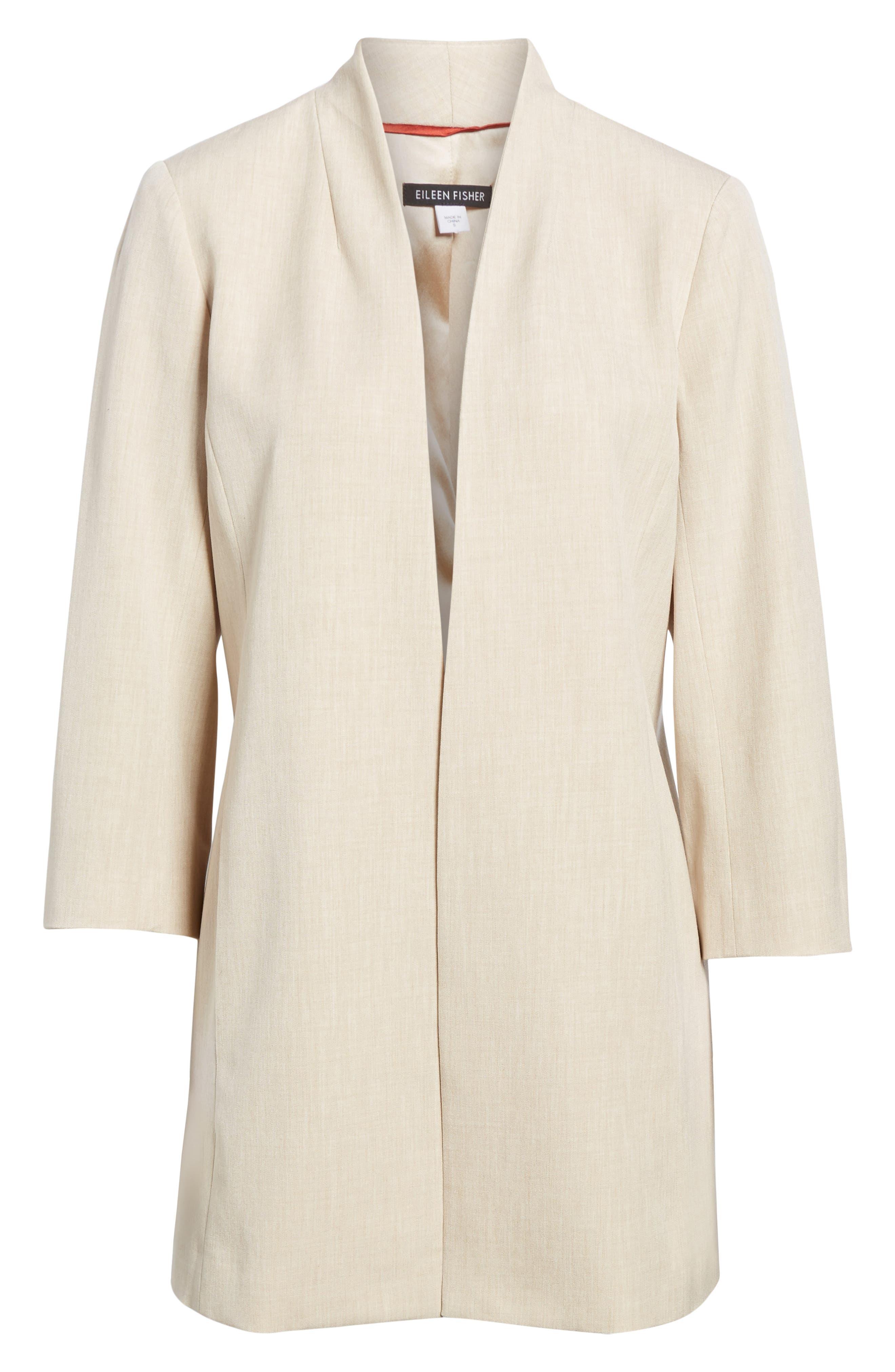 Alternate Image 6  - Eileen Fisher Long Open Front Jacket