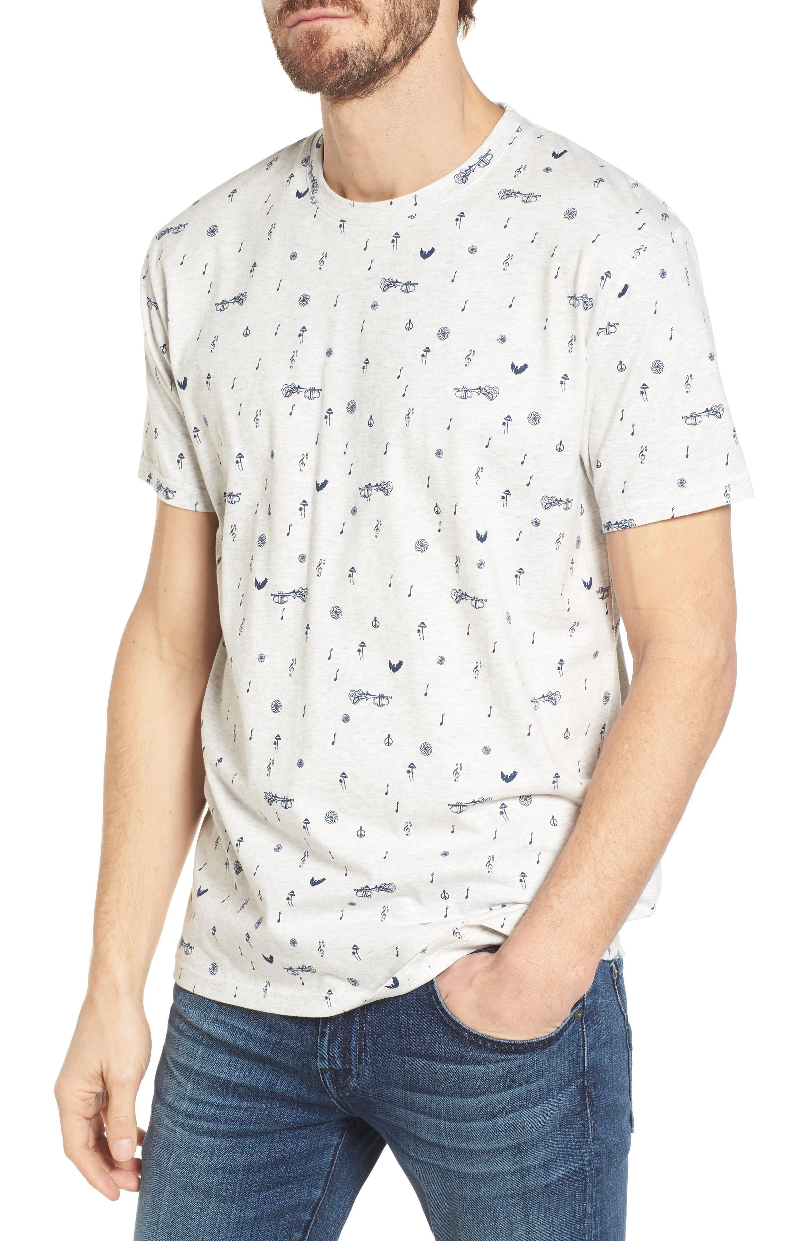 Ben Sherman Musical Notes Crewneck T-Shirt