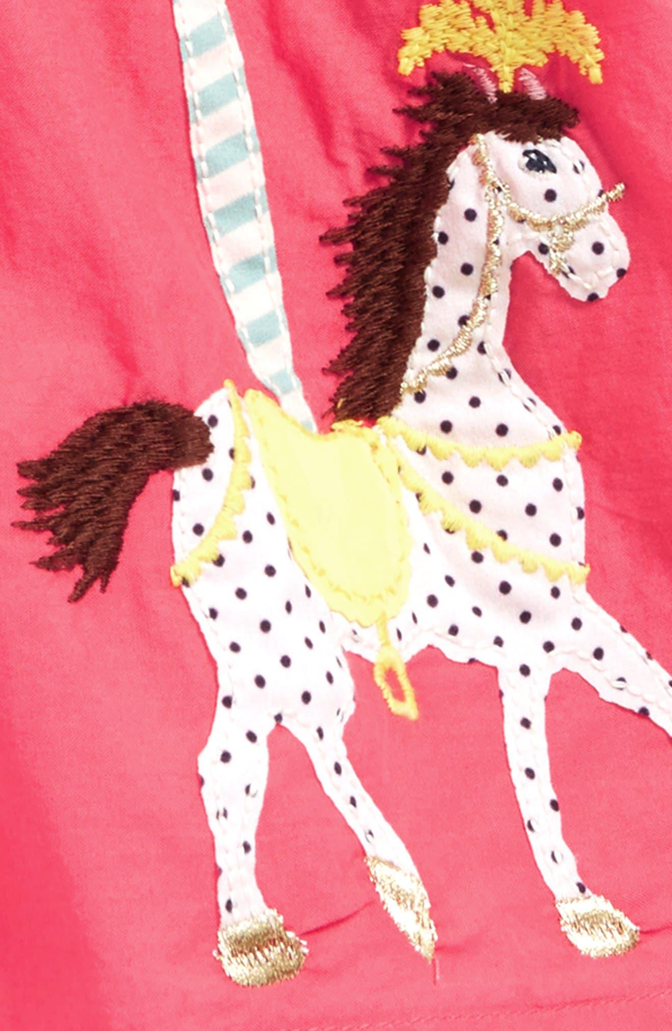 Colorful Appliqué Skirt,                             Alternate thumbnail 2, color,                             Provence Dusty Pink Horses Pnk
