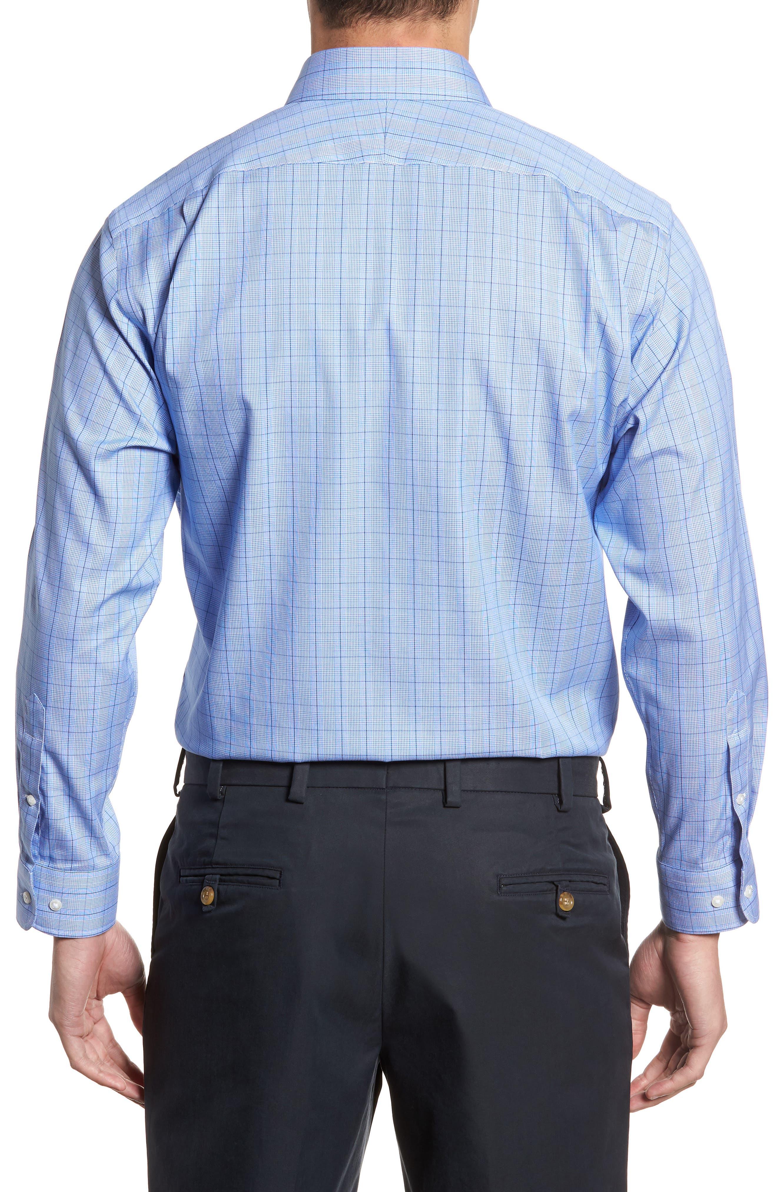 Alternate Image 3  - Nordstrom Men's Shop Smartcare™ Traditional Fit Windowpane Dress Shirt