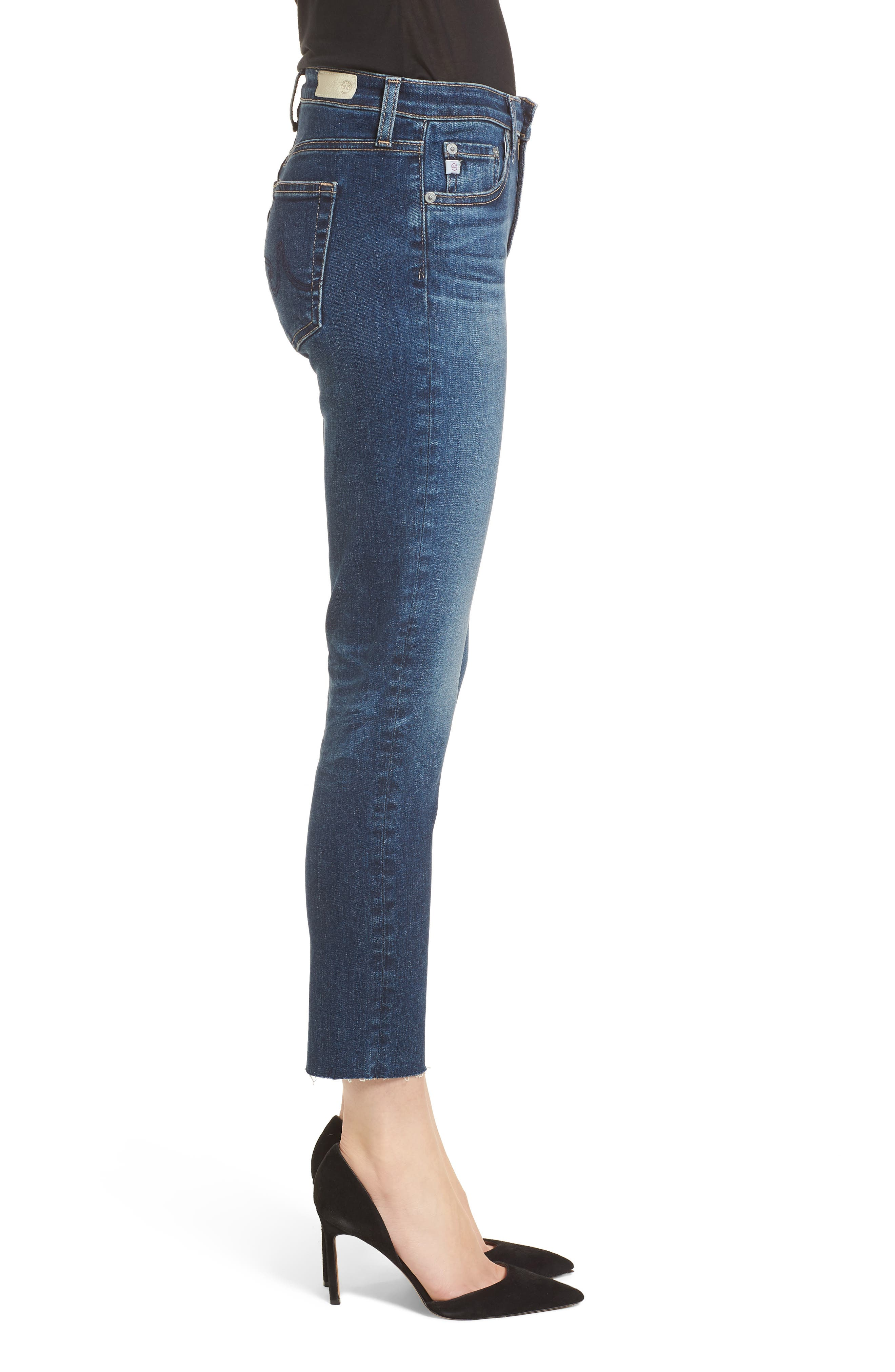 Prima Crop Skinny Jeans,                             Alternate thumbnail 3, color,                             5 Year Indigo Ave