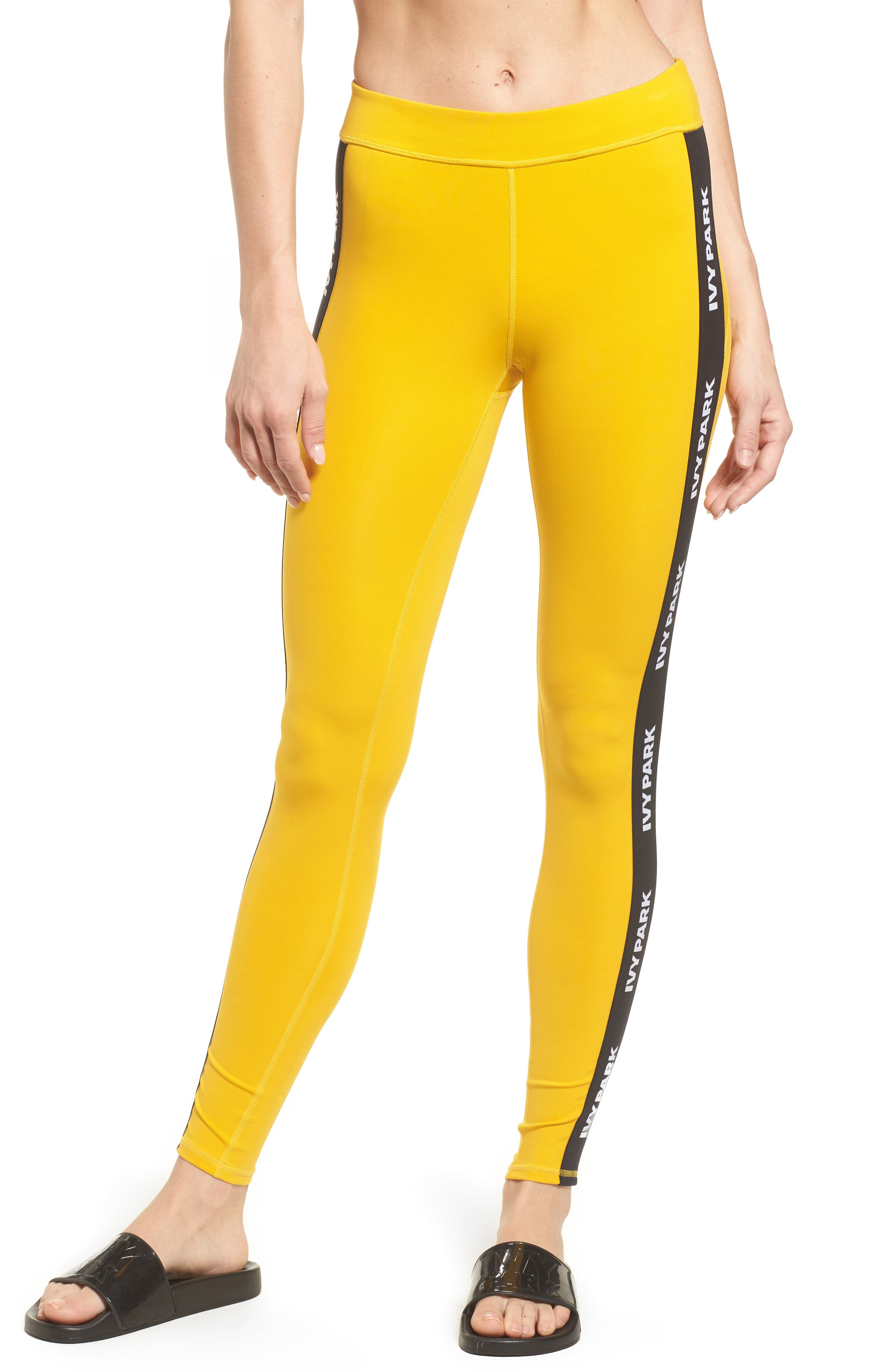 IVY PARK® Elastic Logo Mid Rise Leggings