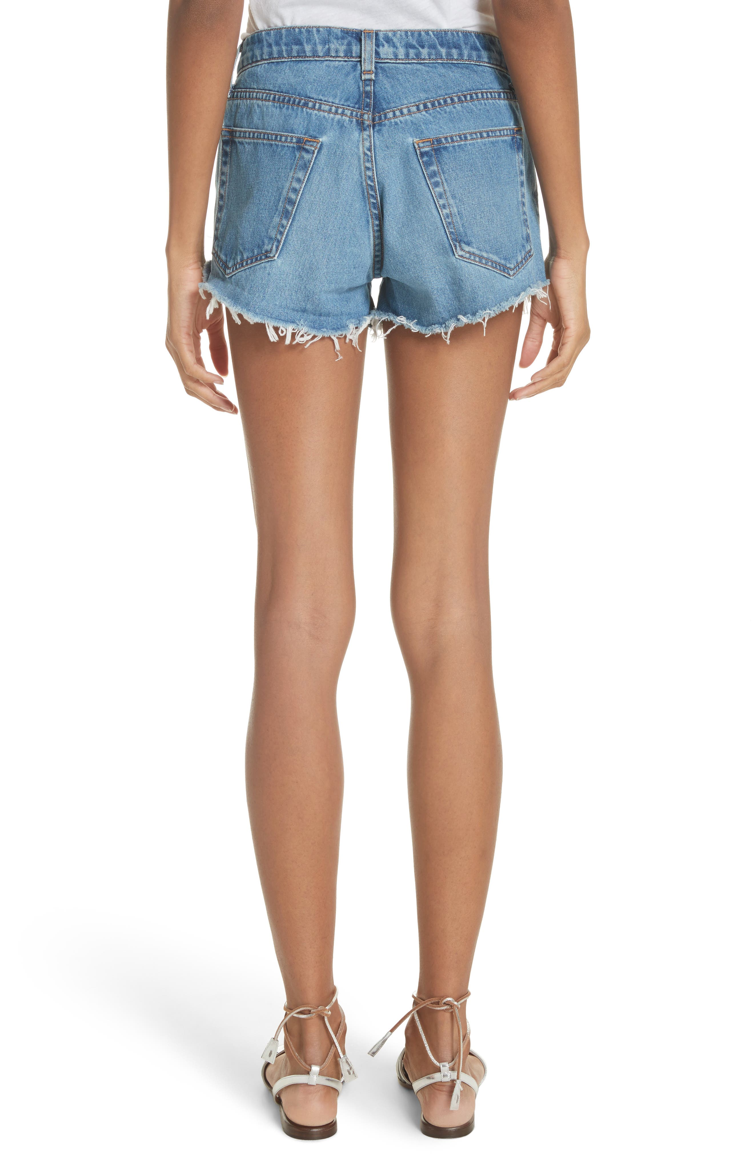Debbie Denim Shorts,                             Alternate thumbnail 2, color,                             Pipeline