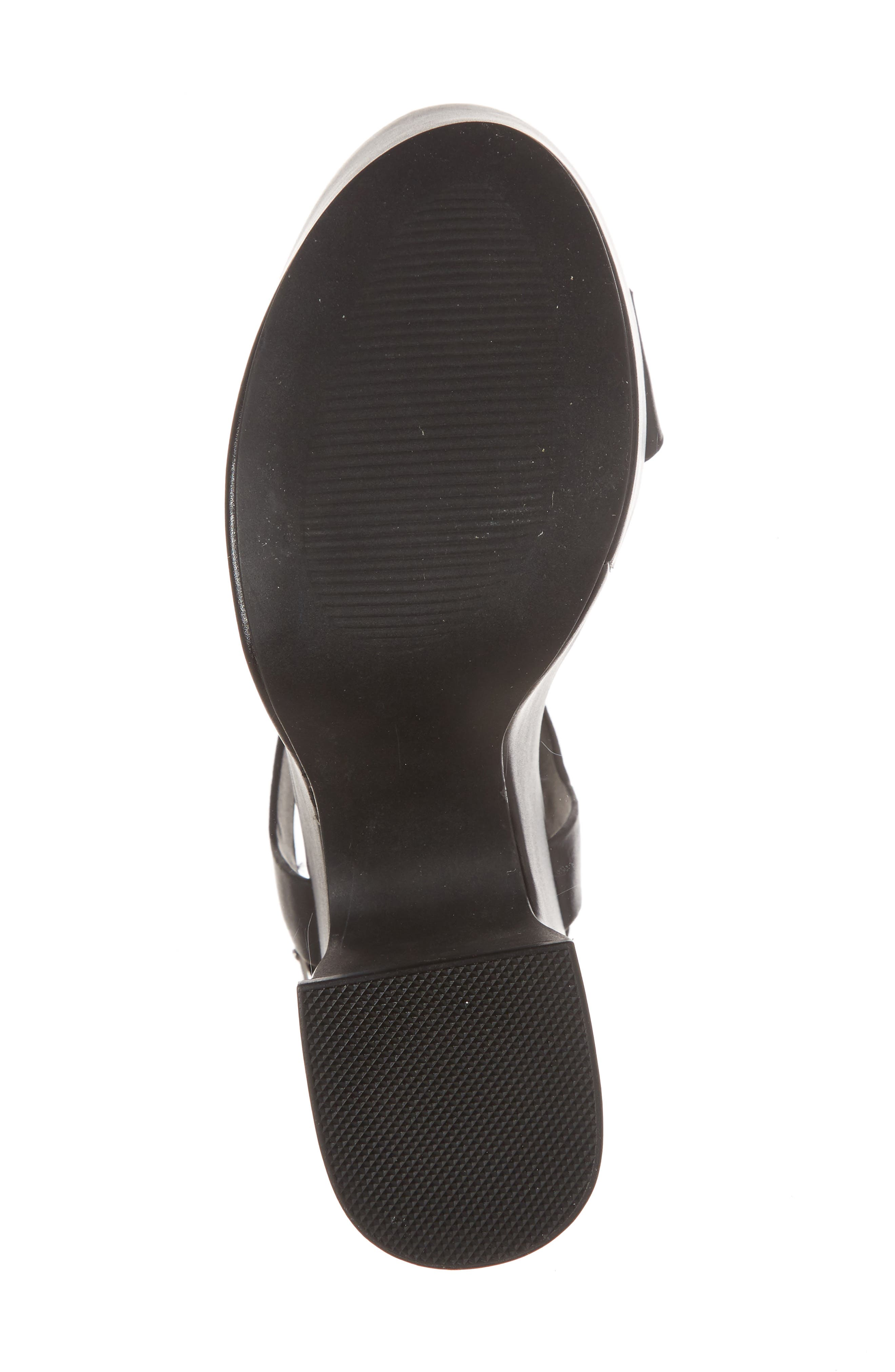 Advice Platform Sandal,                             Alternate thumbnail 6, color,                             Black Leather