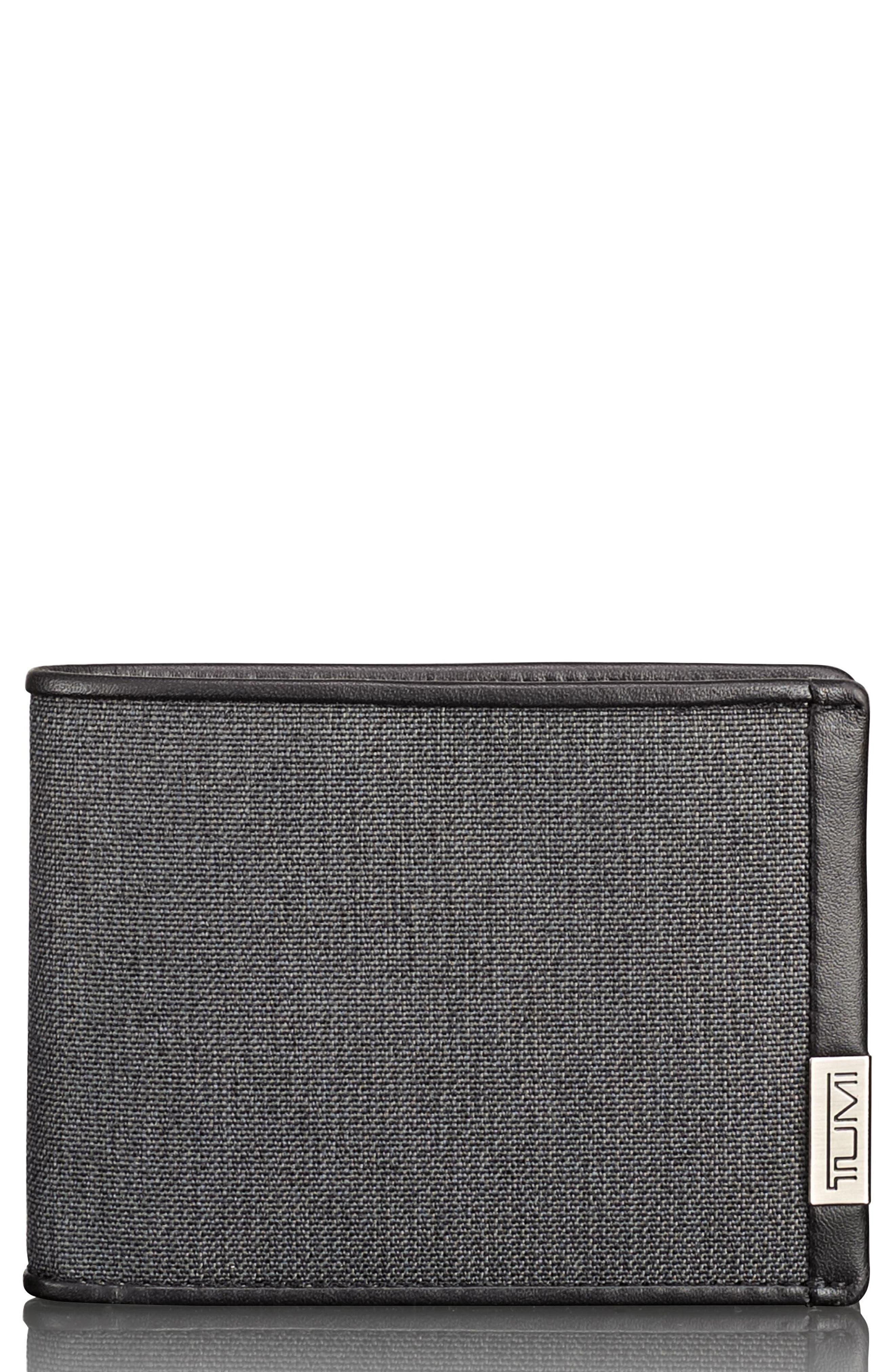 Alpha Billfold Wallet,                         Main,                         color, Anthracite/ Black