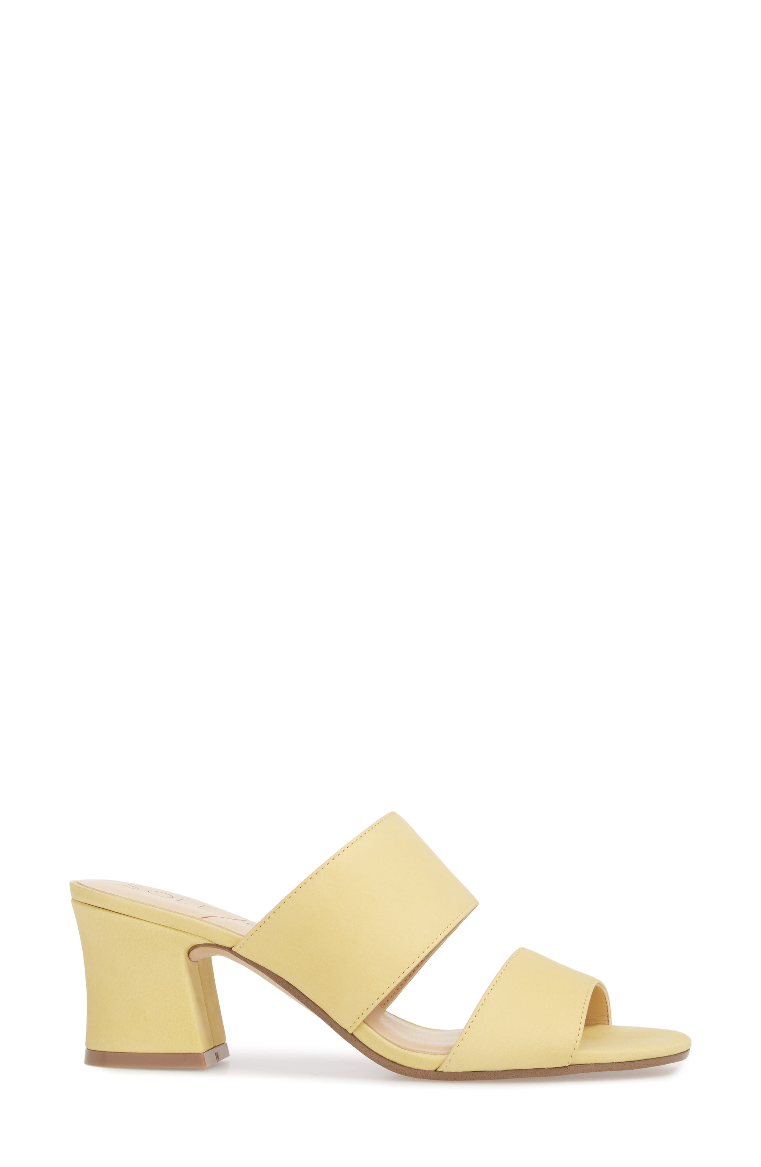 Heline Slide Sandal,                             Alternate thumbnail 3, color,                             Pale Yellow