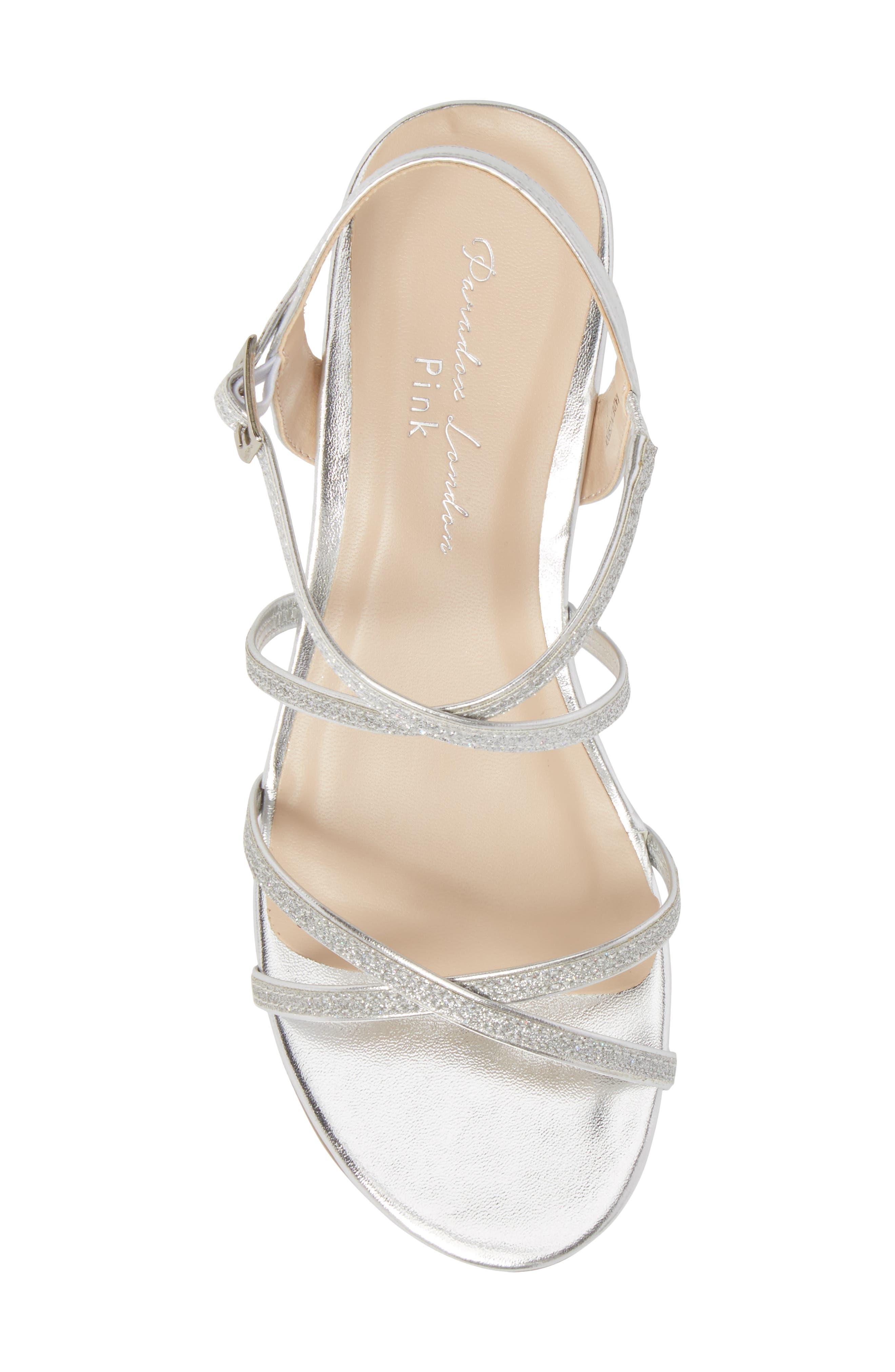 Kadie Wedge Sandal,                             Alternate thumbnail 5, color,                             Silver Glitter