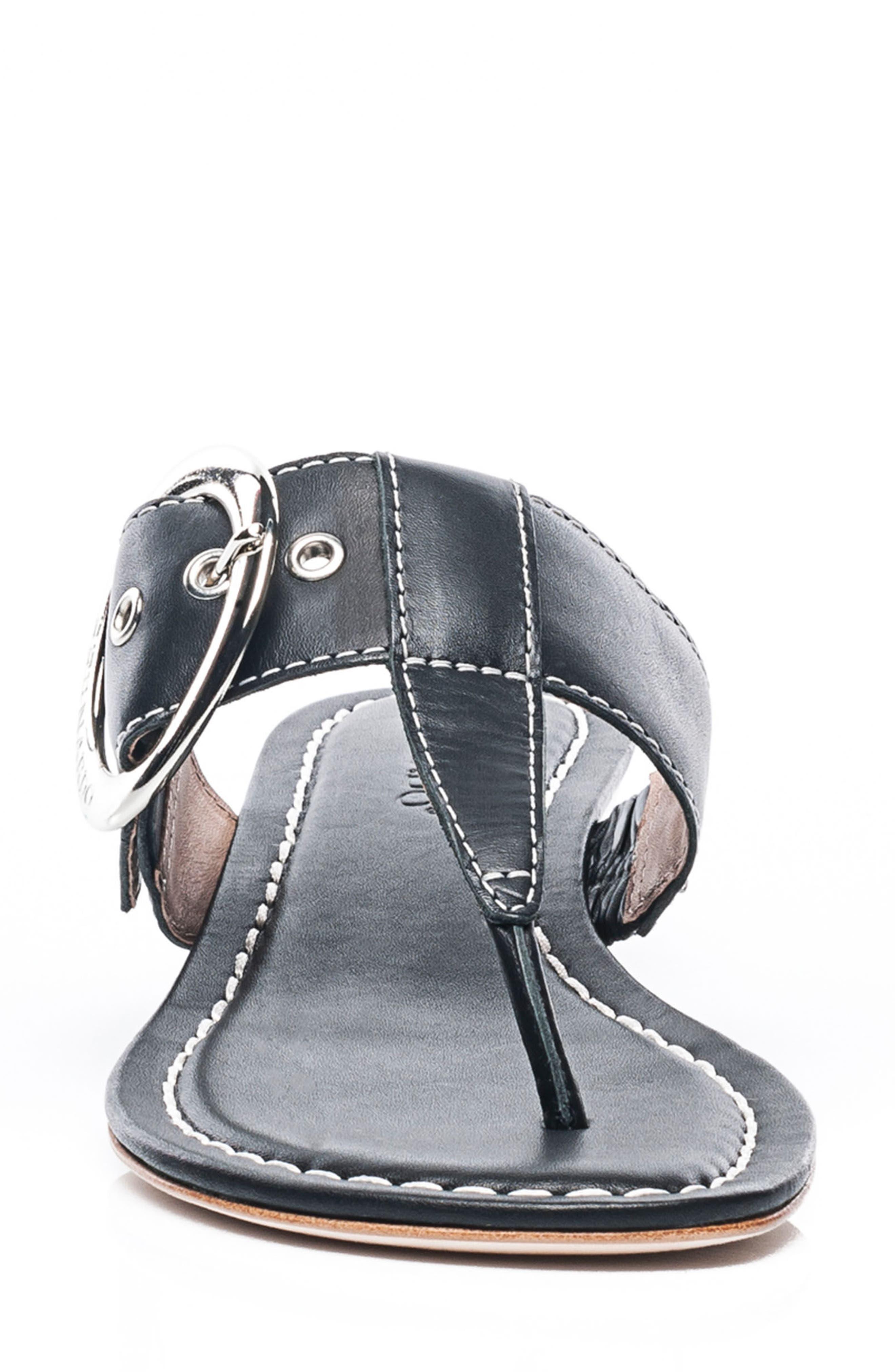Bernardo Grace Sandal,                             Alternate thumbnail 4, color,                             Black Leather