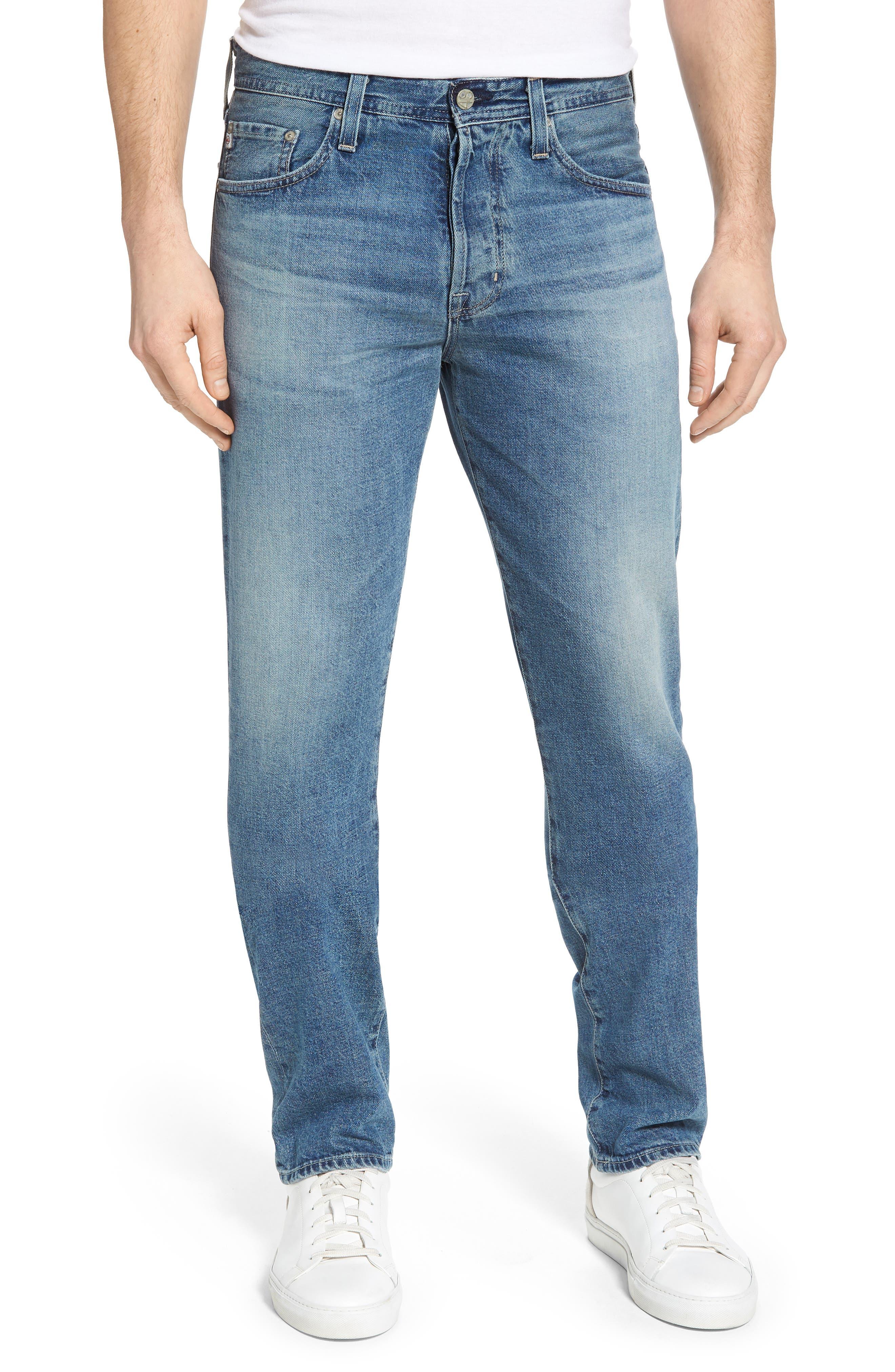 Main Image - AG Pipe Slim Straight Leg Jeans (15 Years Laguna)