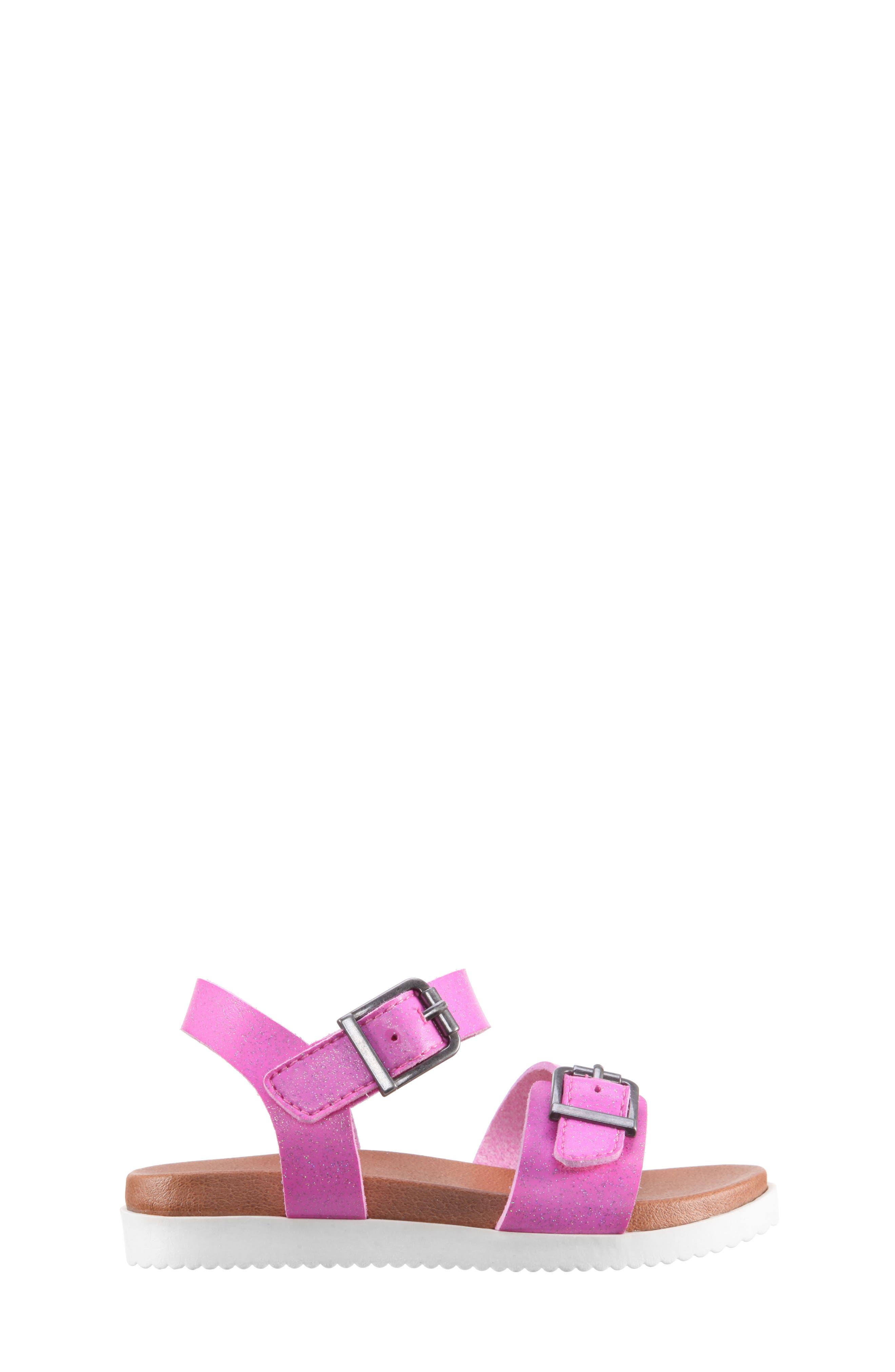 Jacklin3 Quarter Strap Sandal,                             Alternate thumbnail 3, color,                             Pink Dip Dye