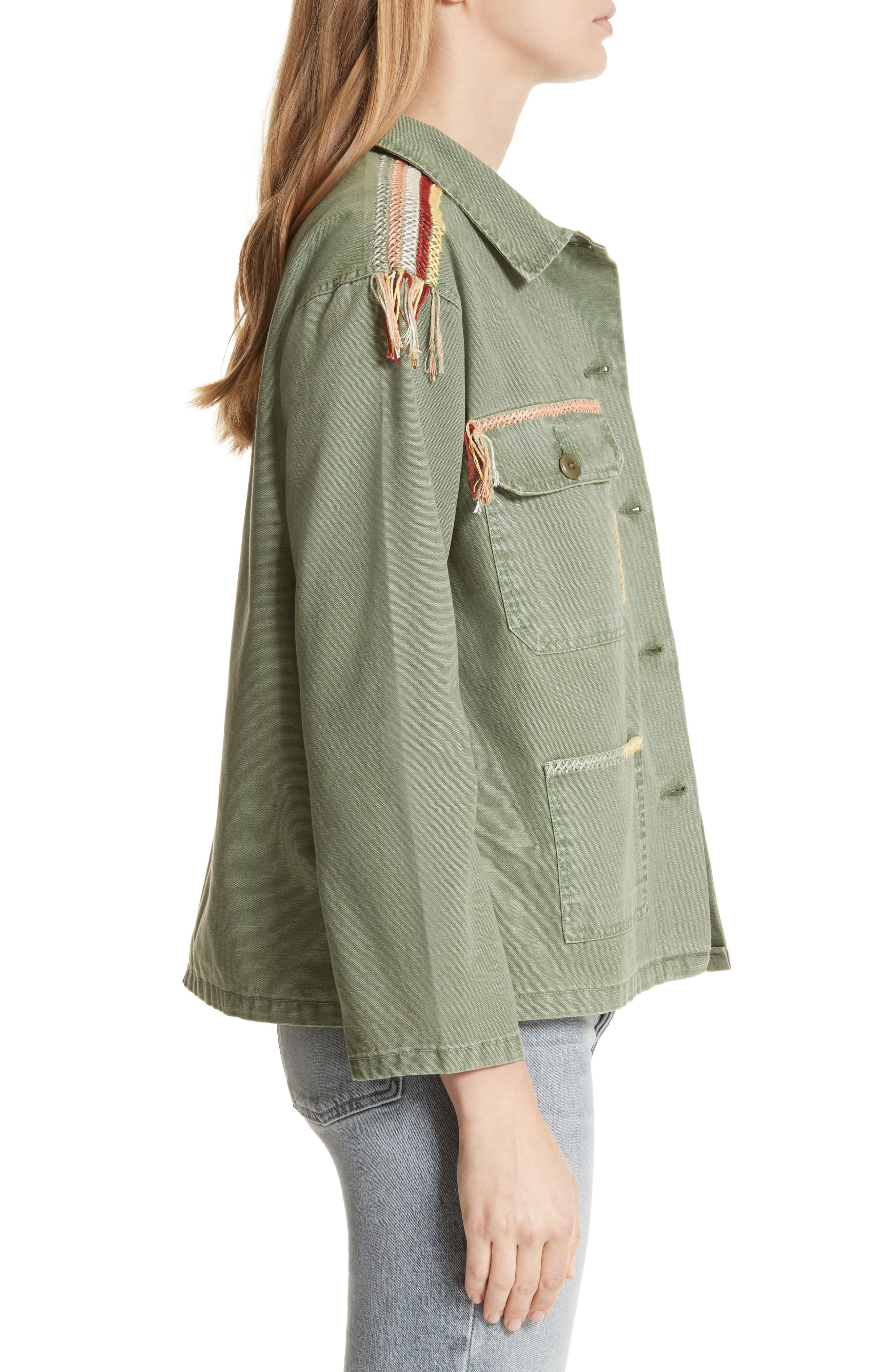 The Sergeant Embroidered Jacket,                             Alternate thumbnail 3, color,                             Worn Army