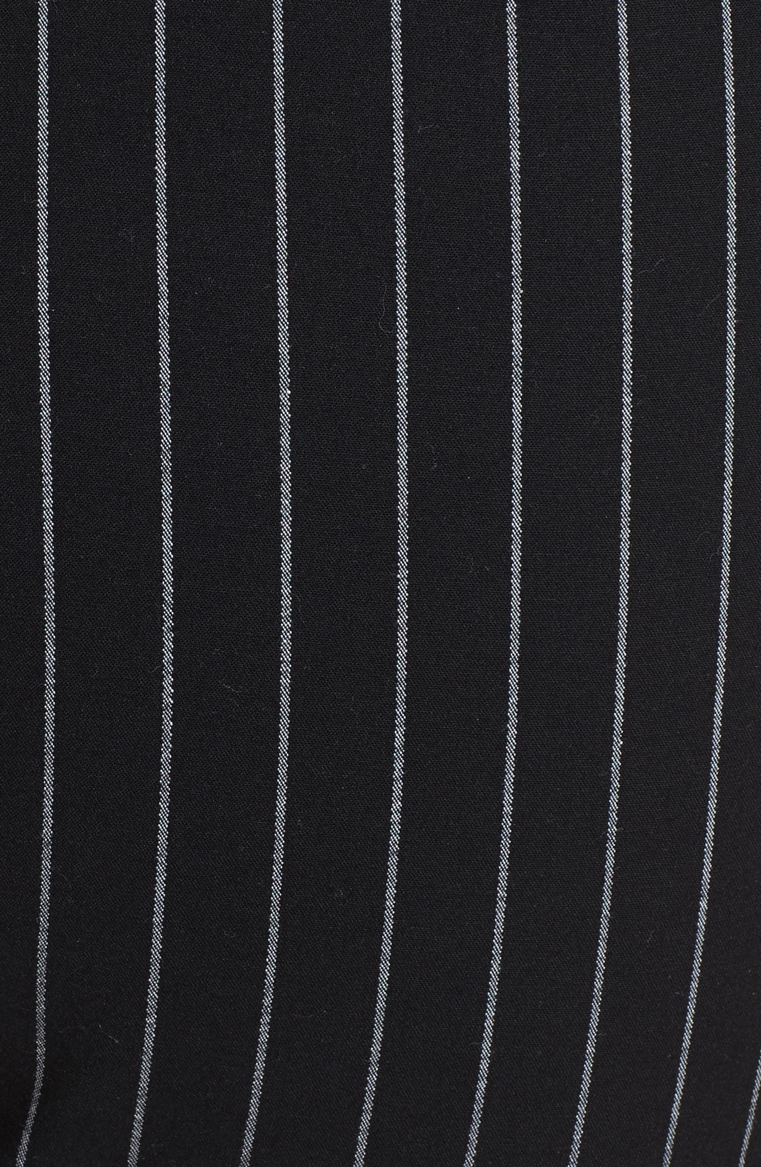 Simone Pinstripe Pants,                             Alternate thumbnail 5, color,                             Black/ White