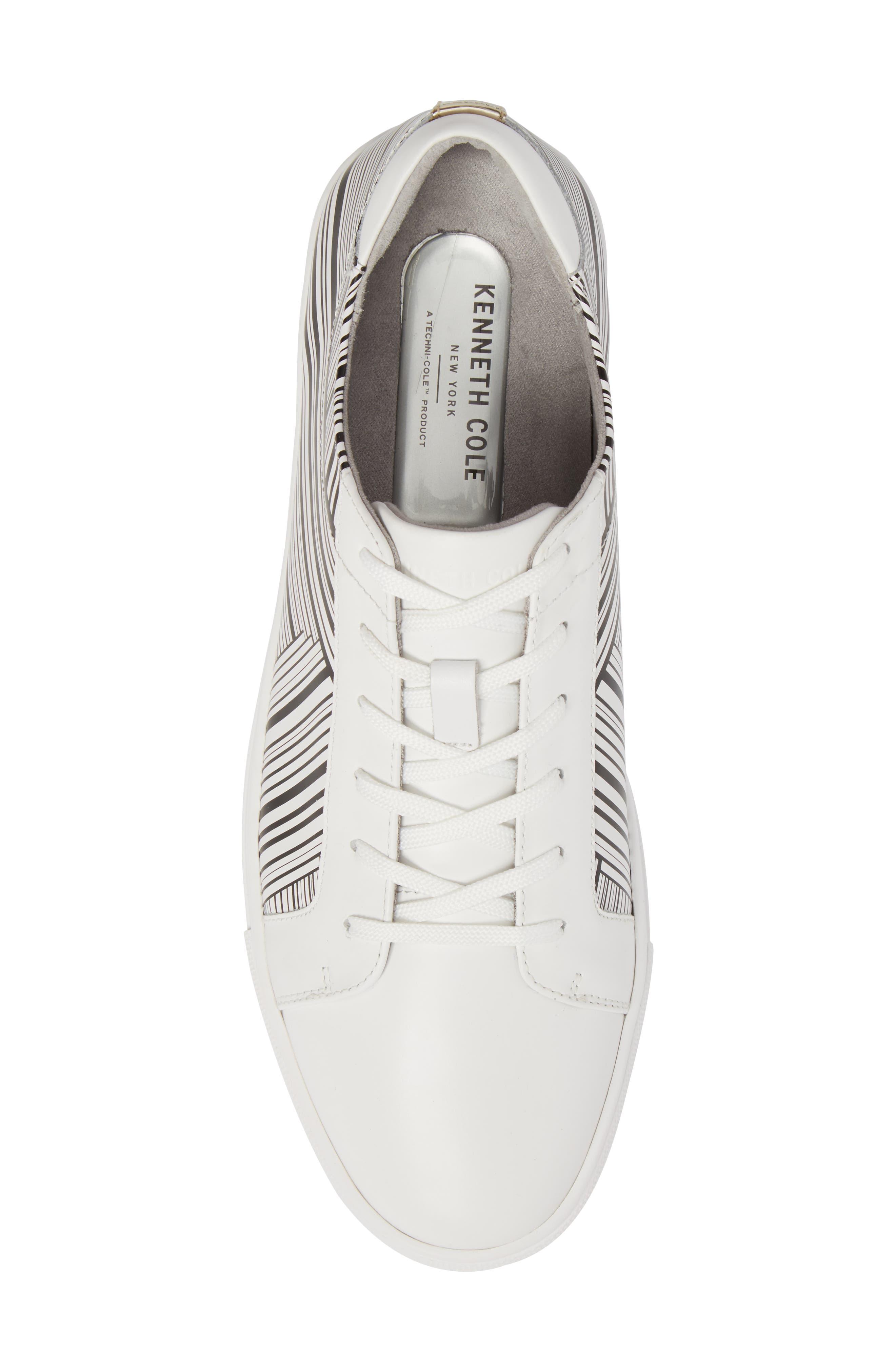 Kam Sneaker,                             Alternate thumbnail 5, color,                             White/ Black Leather