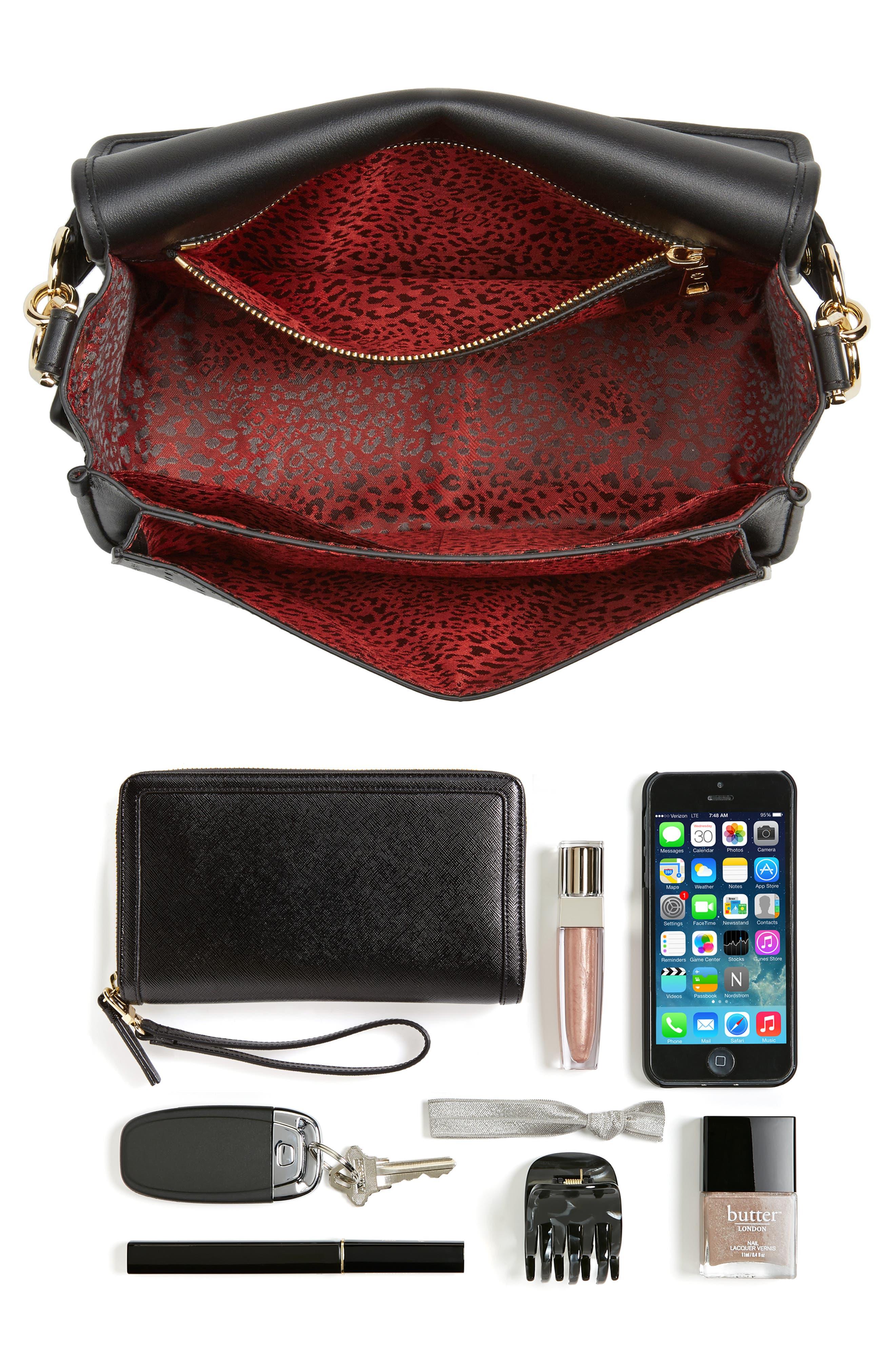 Alternate Image 7  - Longchamp Mademoiselle Calfskin Leather Crossbody Bag