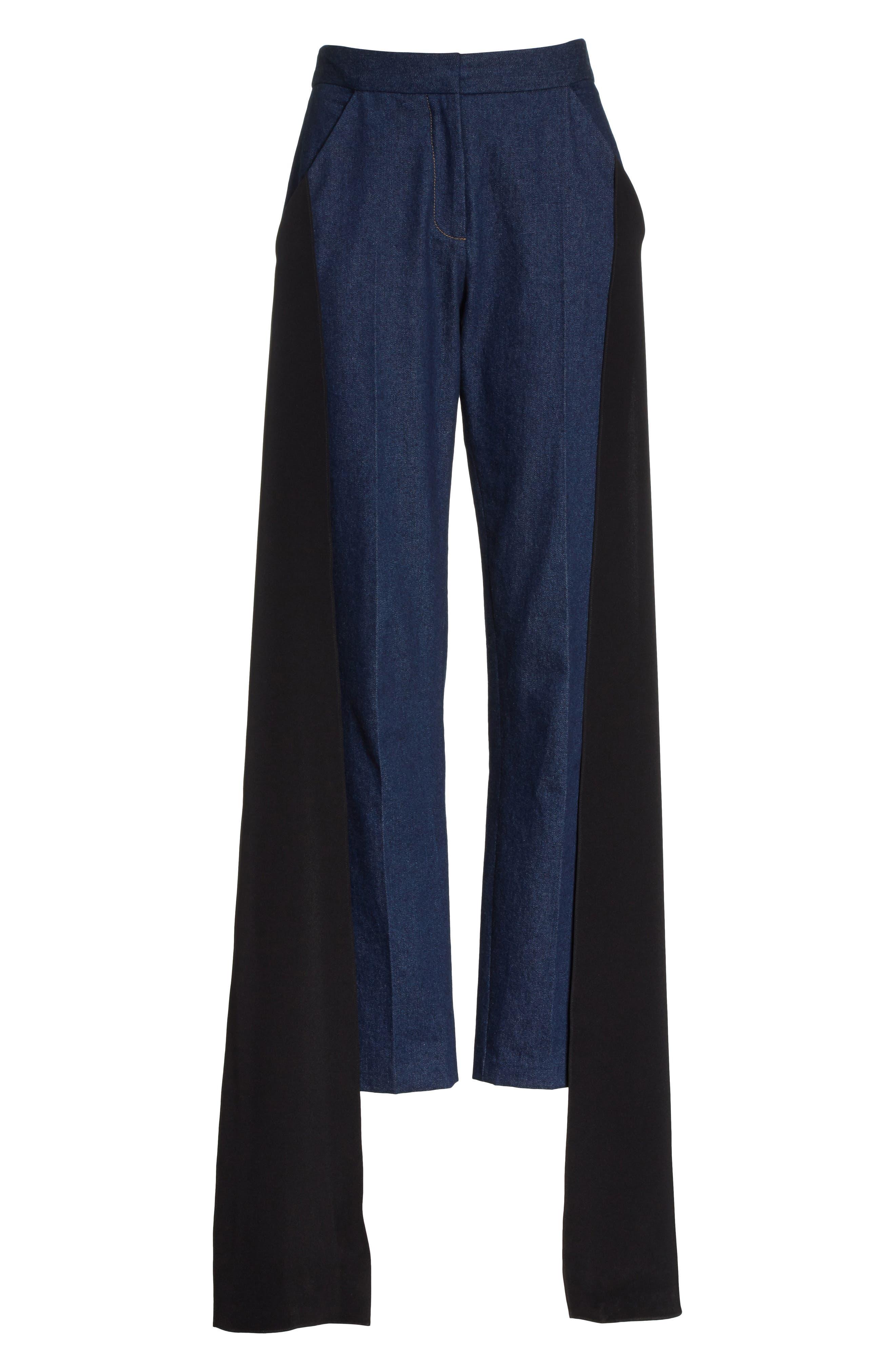 Mojave Side Panel Skinny Jeans,                             Alternate thumbnail 8, color,                             Dark Wash Denim