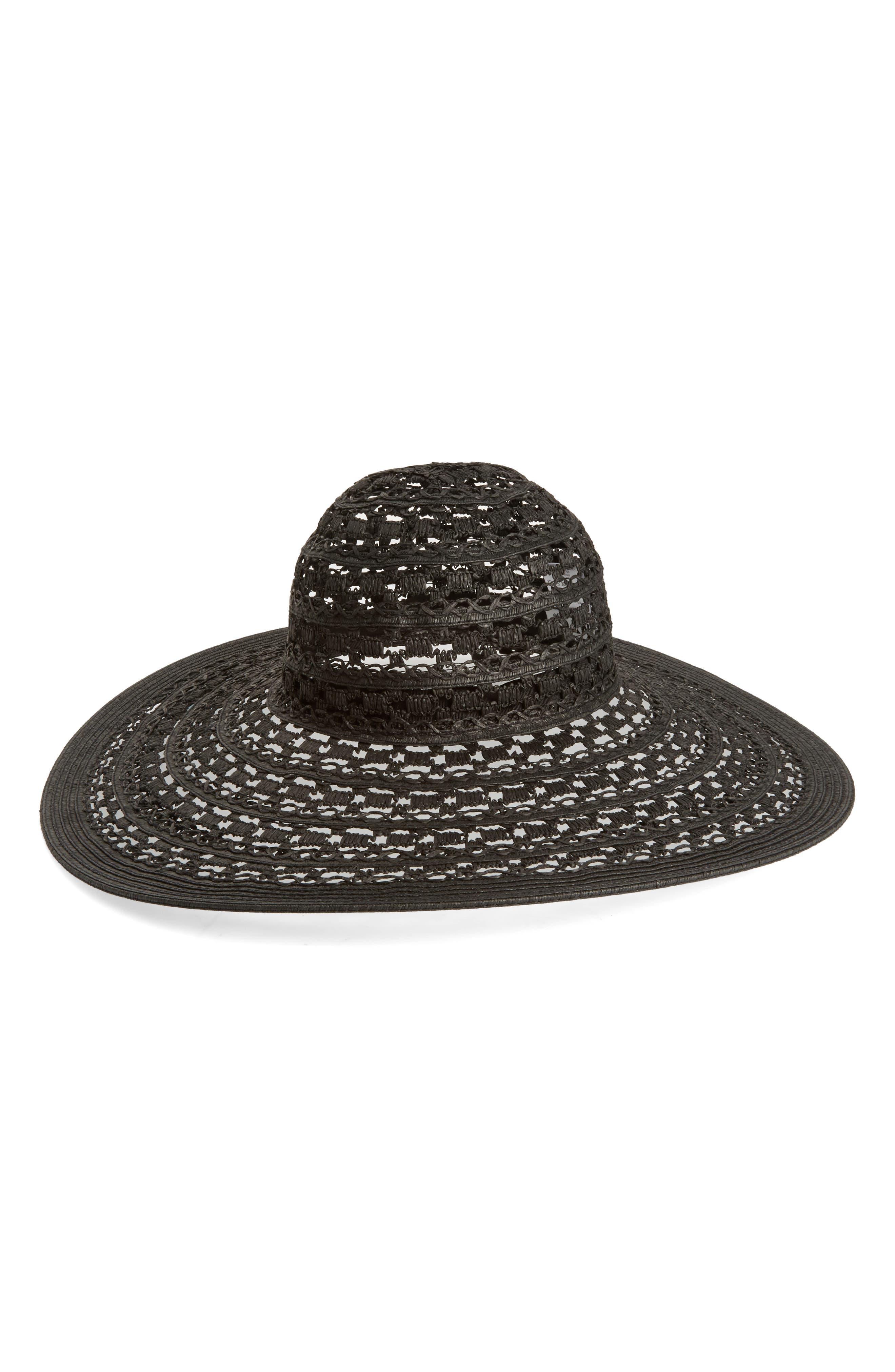 NYC UNDERGROUND Floppy Straw Hat