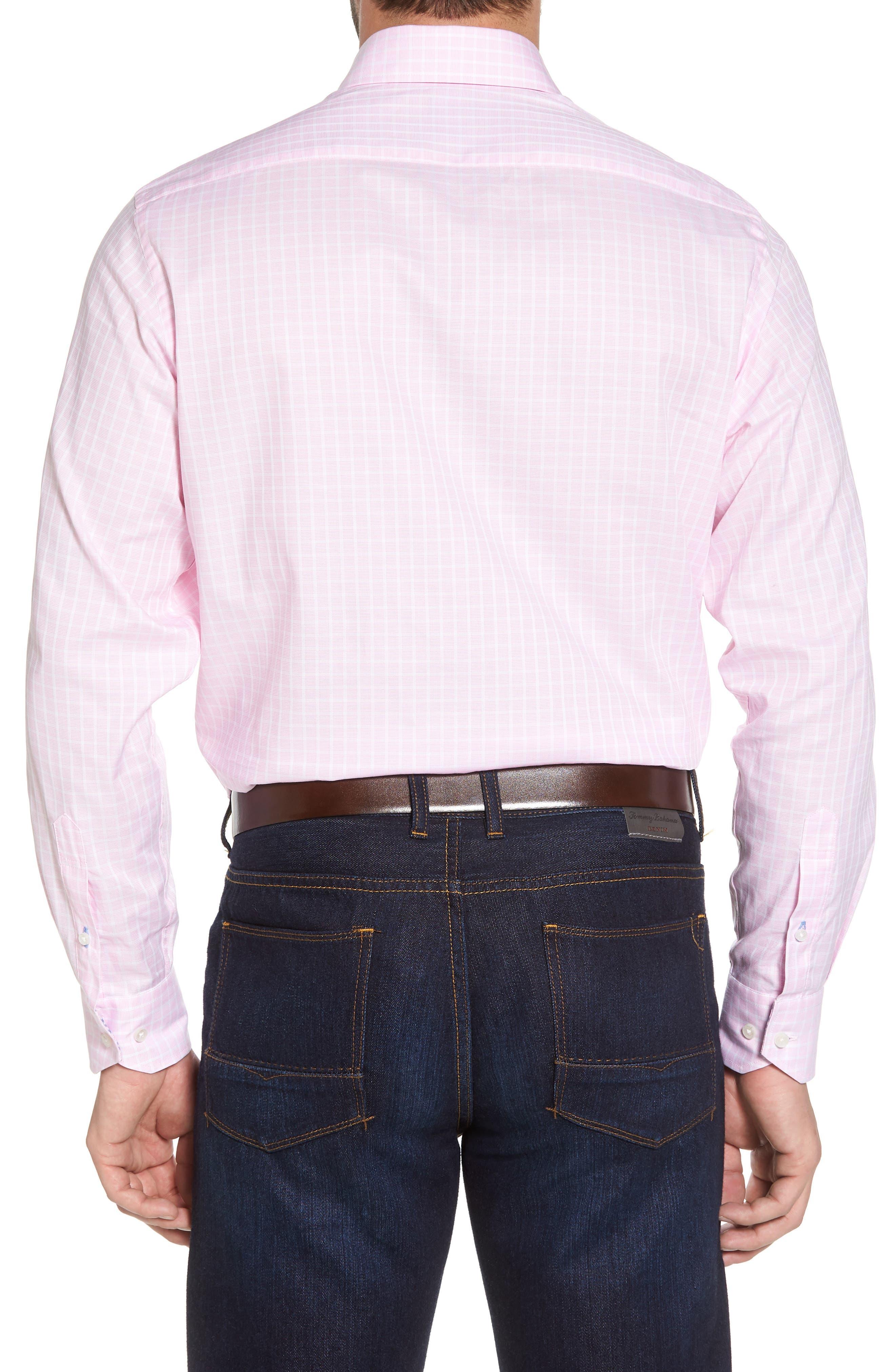 Bela Regular Fit Grid Sport Shirt,                             Alternate thumbnail 2, color,                             Pink