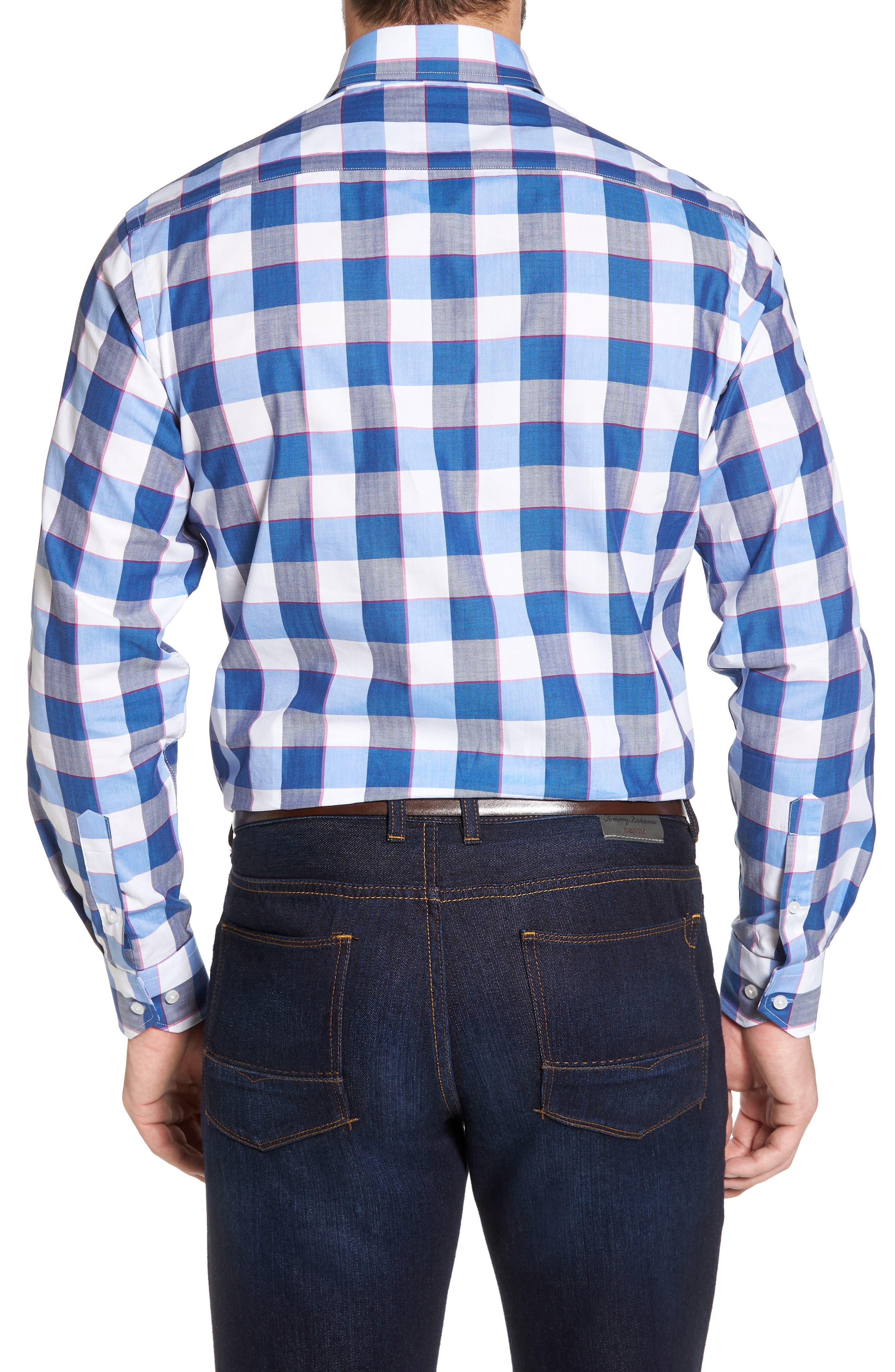Jeremy Regular Fit Check Sport Shirt,                             Alternate thumbnail 2, color,                             Navy