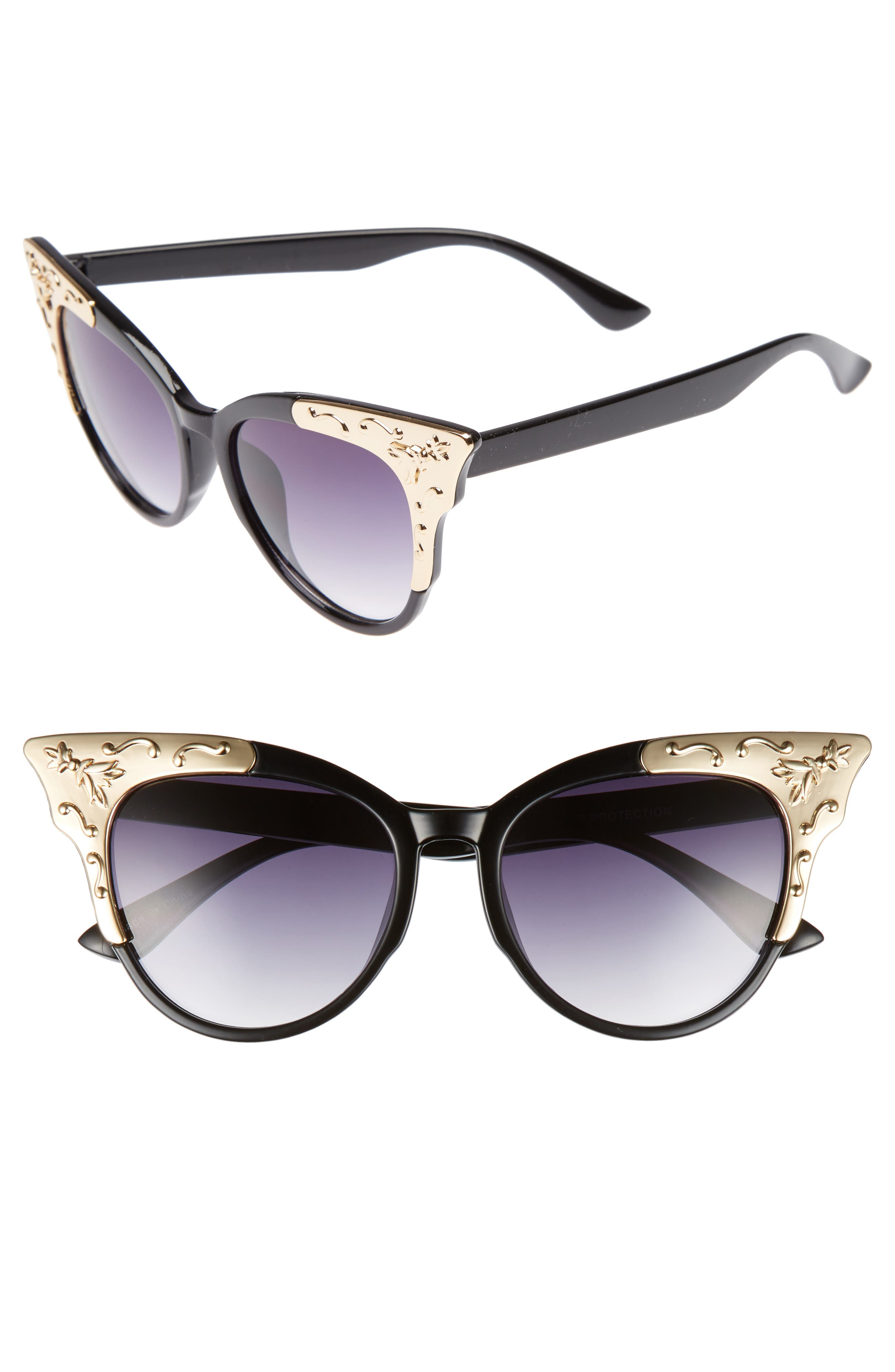 Leith 53mm Metal Tipped Cat Eye Sunglasses