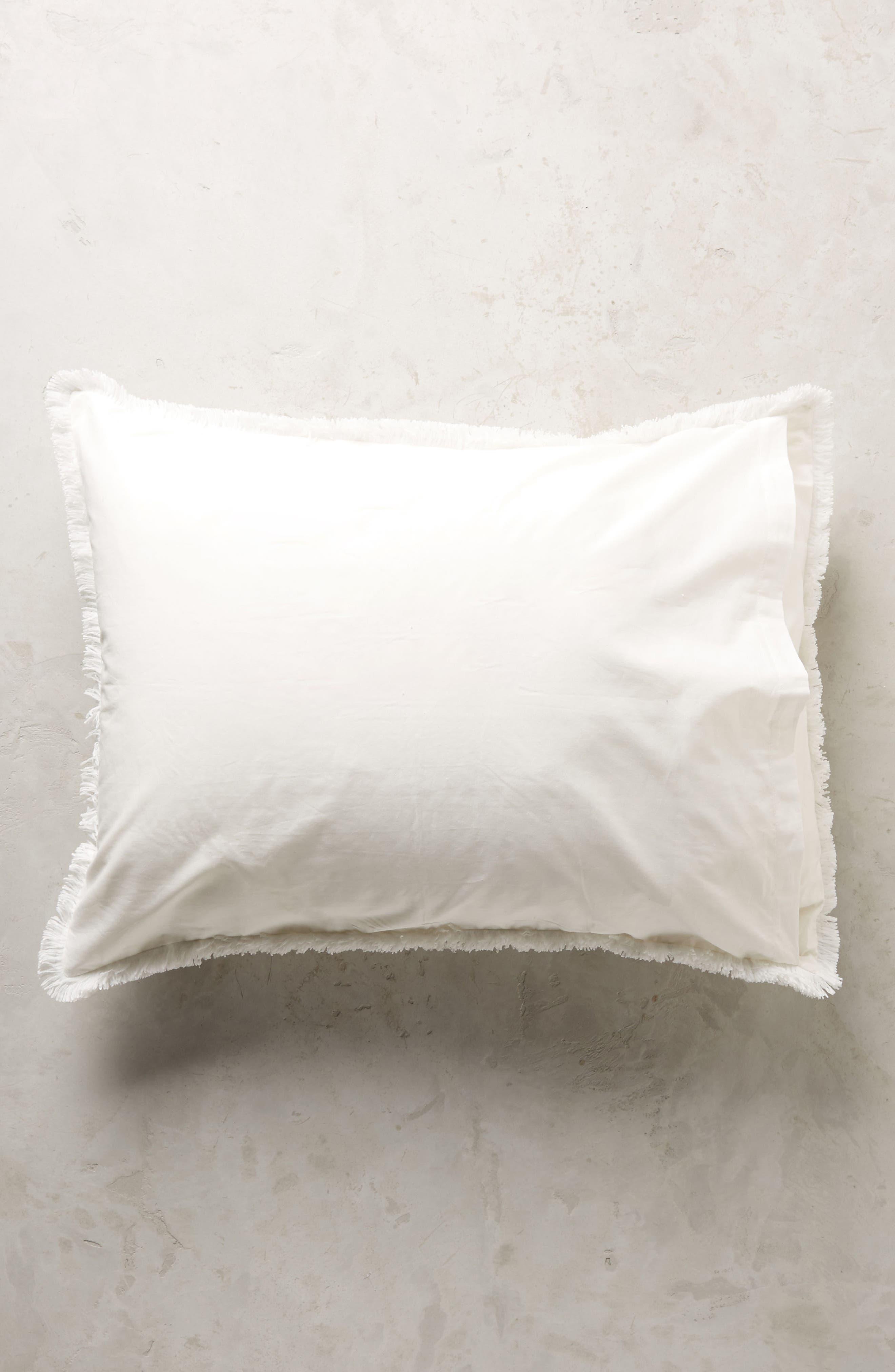 Fringe Set of Pillow Shams,                             Alternate thumbnail 2, color,                             White
