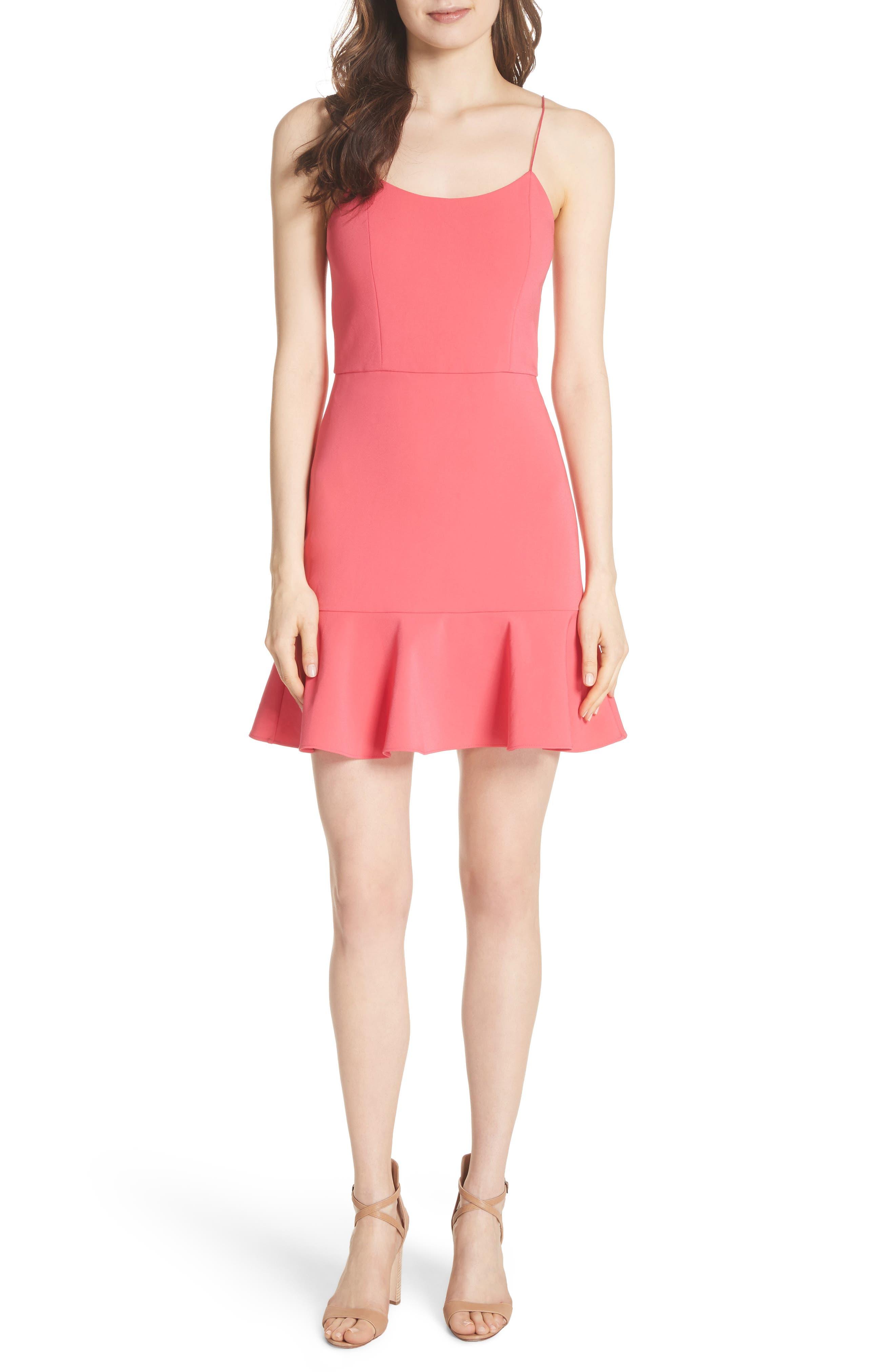 Andalasia Sleeveless Fit & Flare Dress,                             Main thumbnail 1, color,                             Watermelon