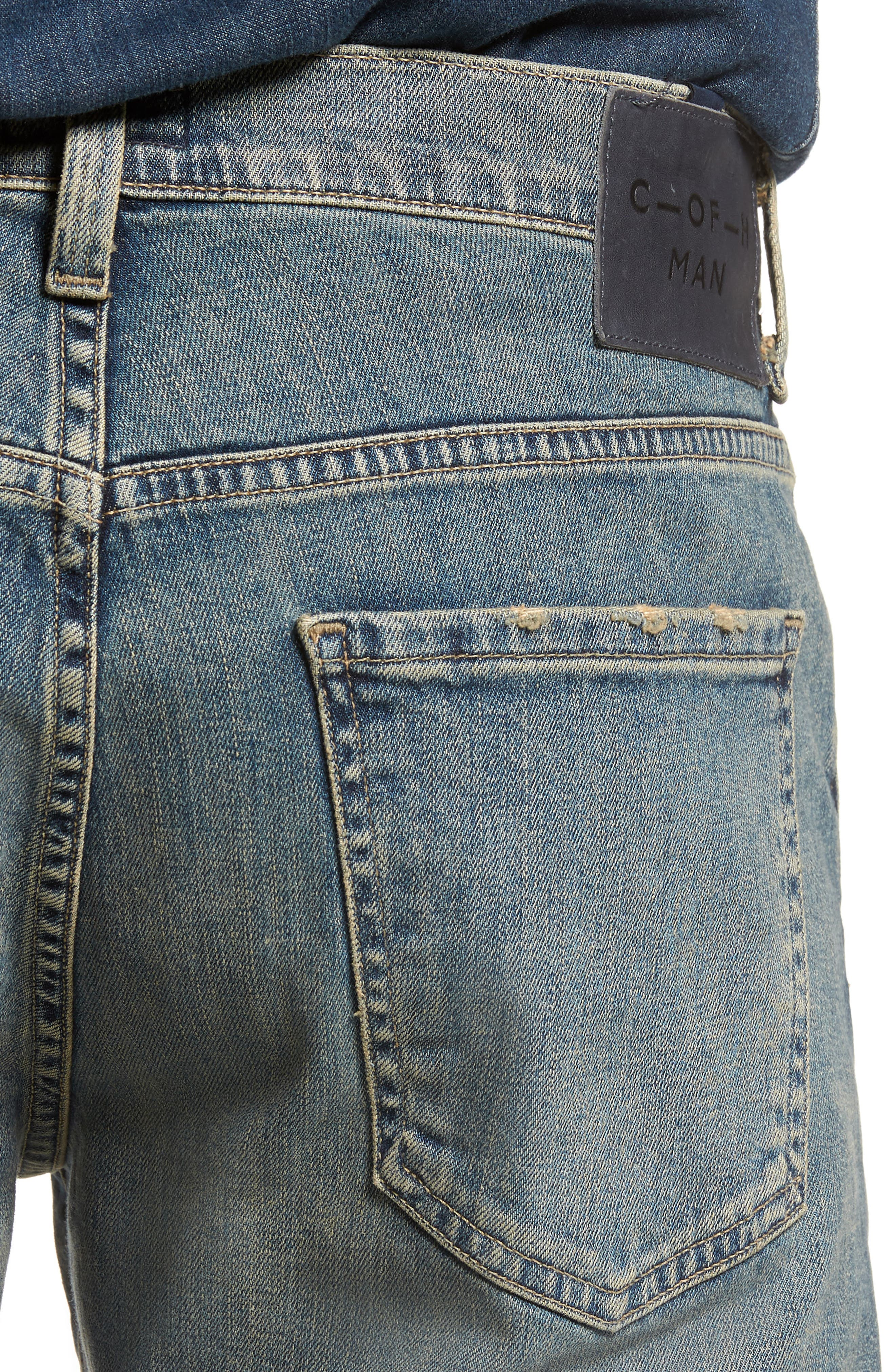 Sid Straight Leg Jeans,                             Alternate thumbnail 4, color,                             Hillcrest