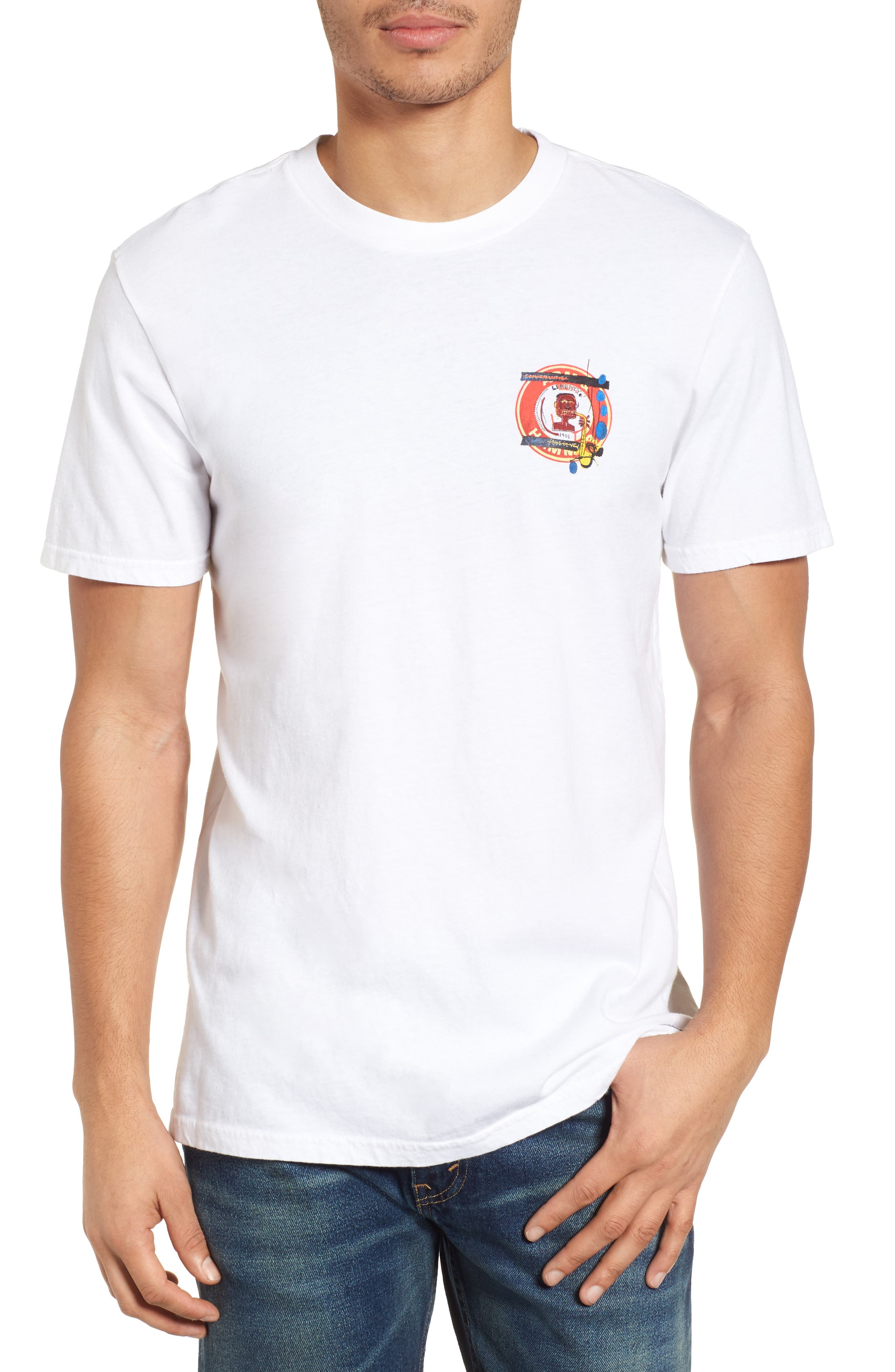 x Warhol Liberty T-Shirt,                             Main thumbnail 1, color,                             Vintage White
