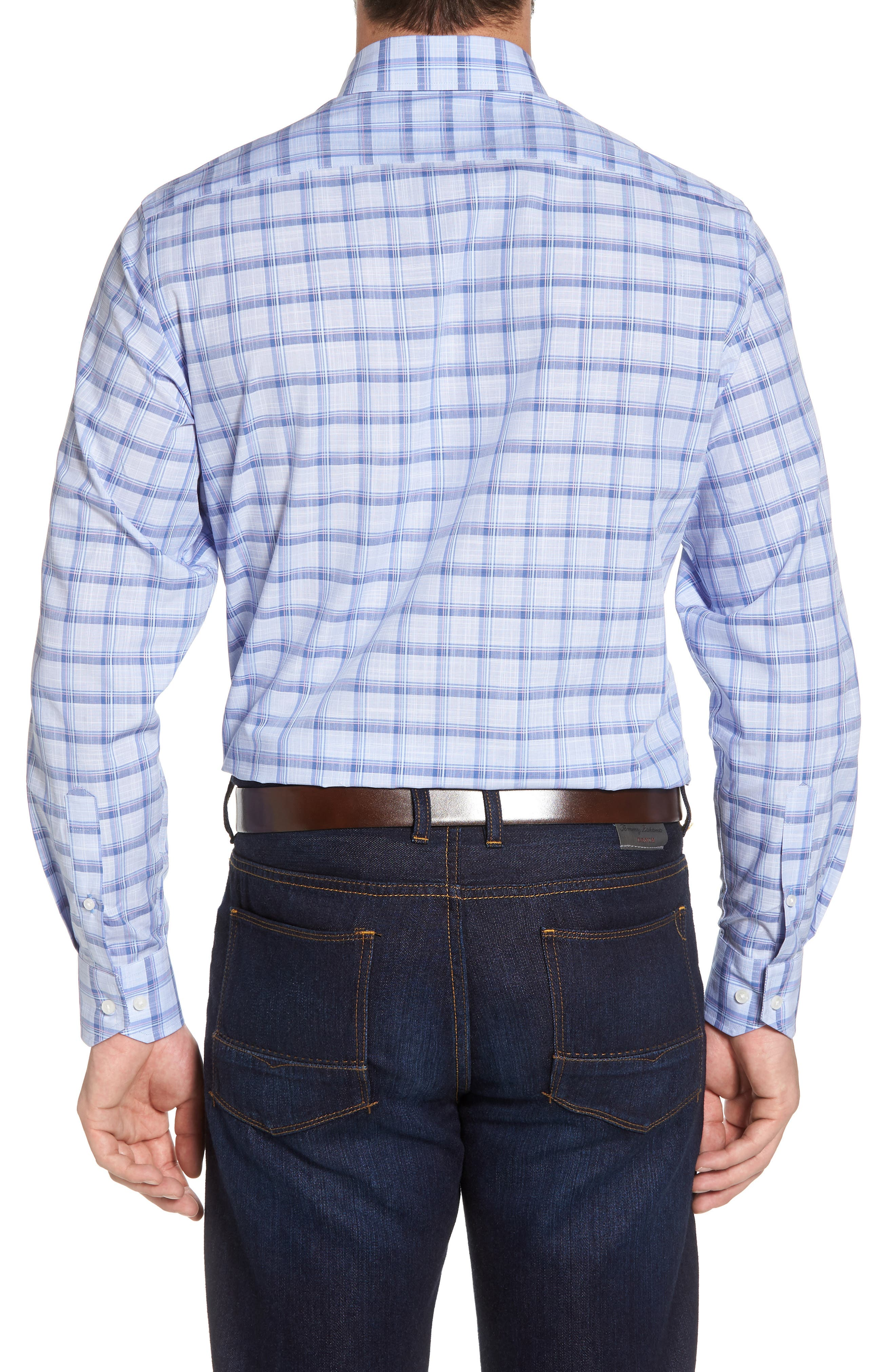 Banks Regular Fit Check Sport Shirt,                             Alternate thumbnail 2, color,                             Chambray